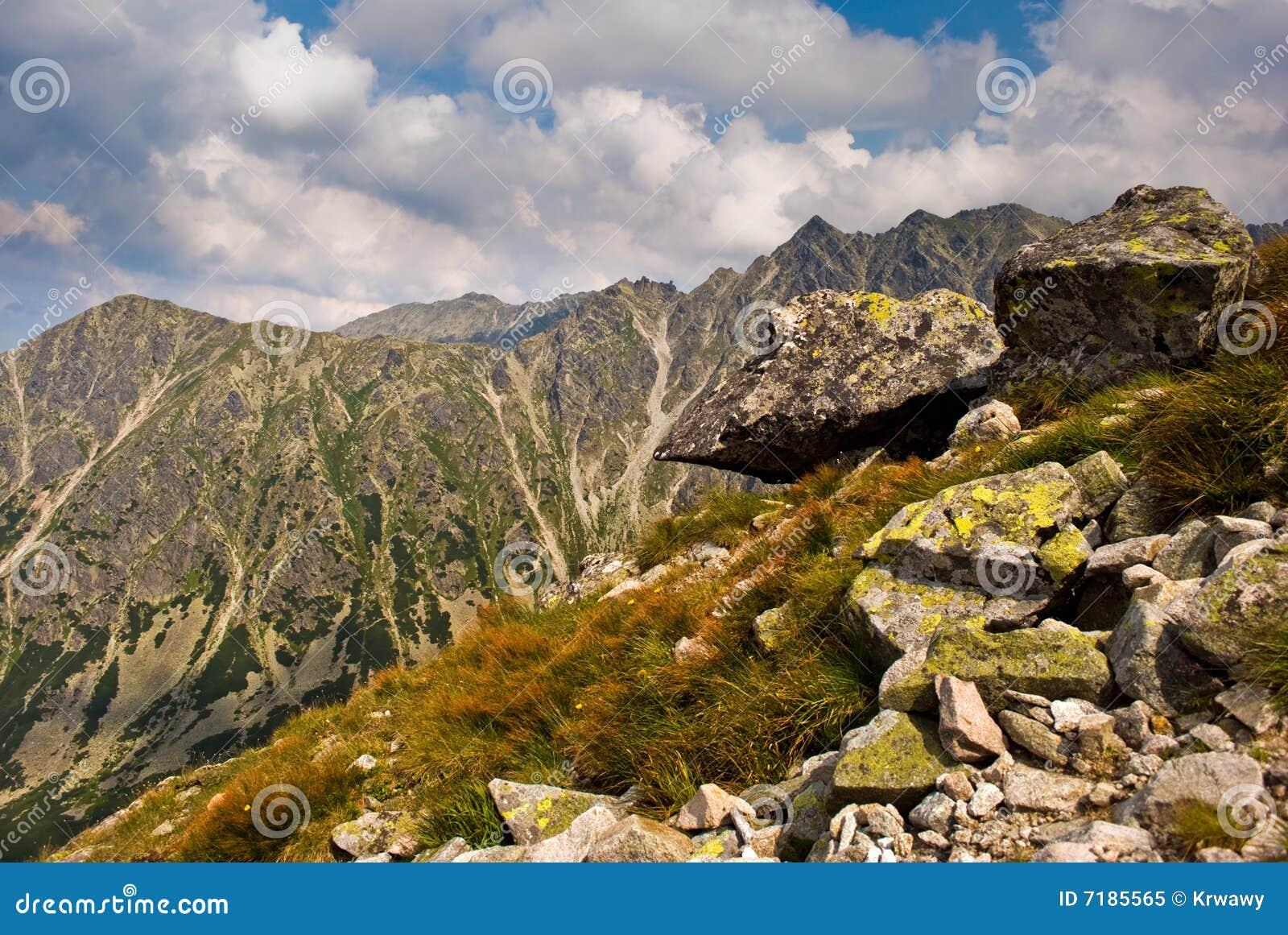 δύσκολο tatra βουνών τοπίων