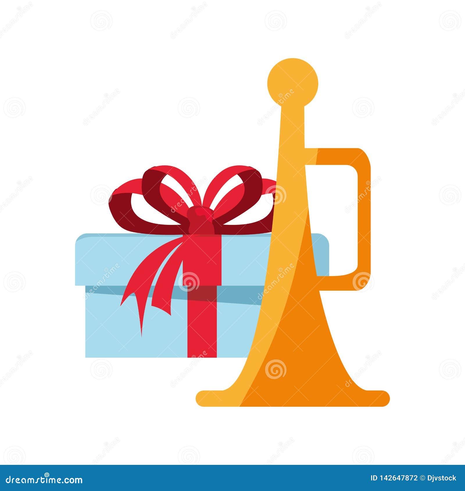 Δώρο Χριστουγέννων και διακόσμηση σαλπίγγων