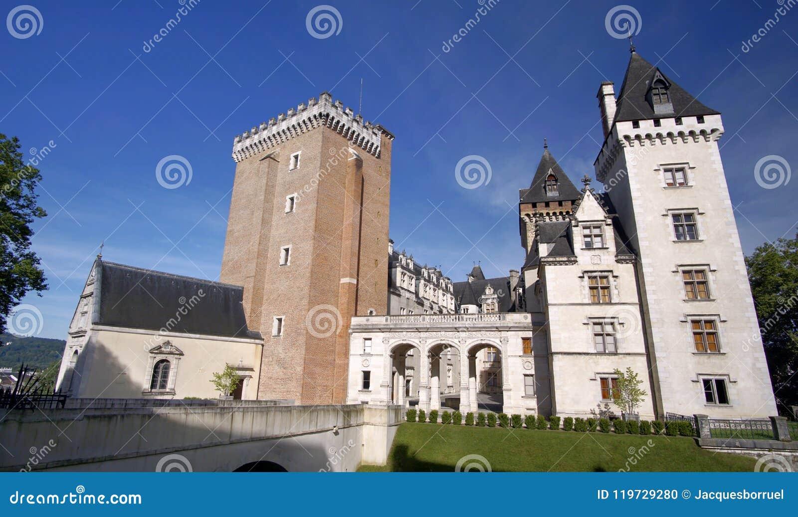 Είσοδος του κάστρου του Πάου, Πυρηναία Atlantiques, Aquitaine, Γαλλία