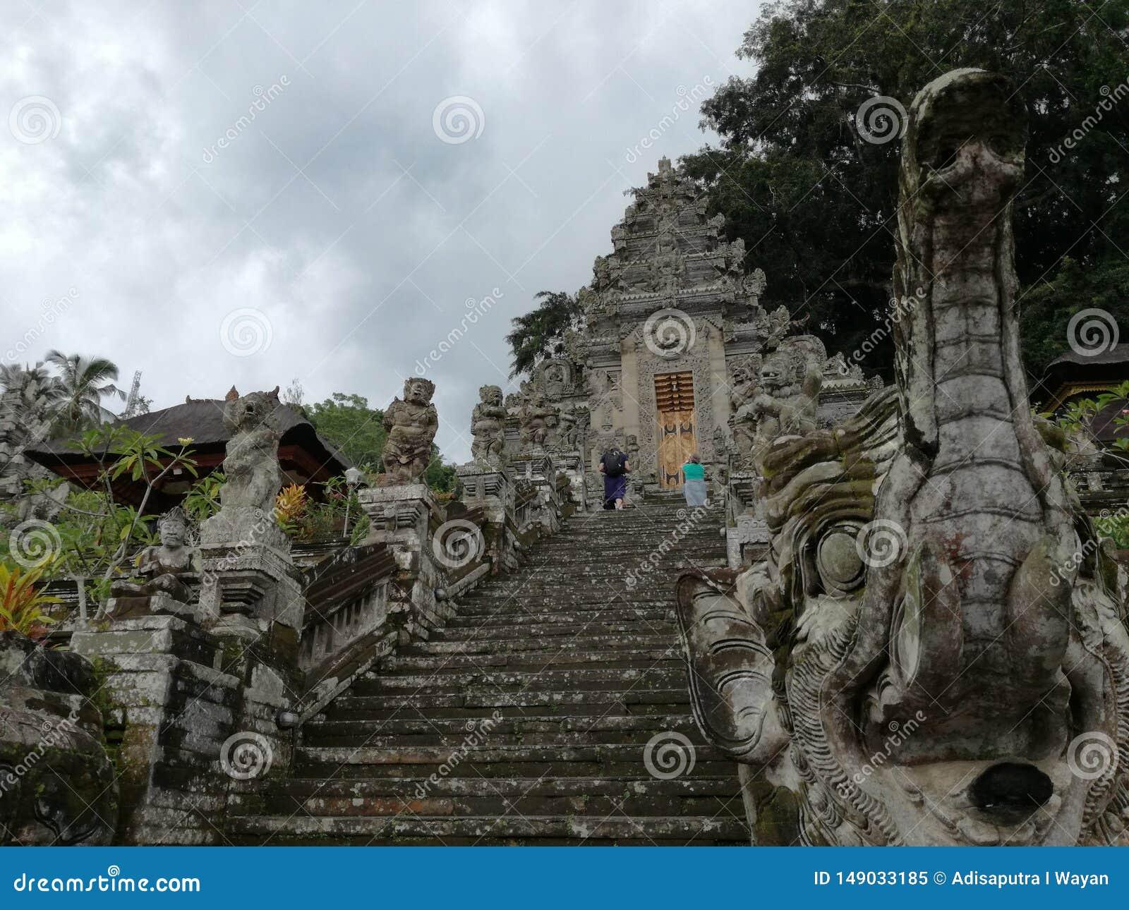 Είσοδος του ναού Pura Kehen, ένας ινδός ναός στο Μπαλί, Ινδονησία