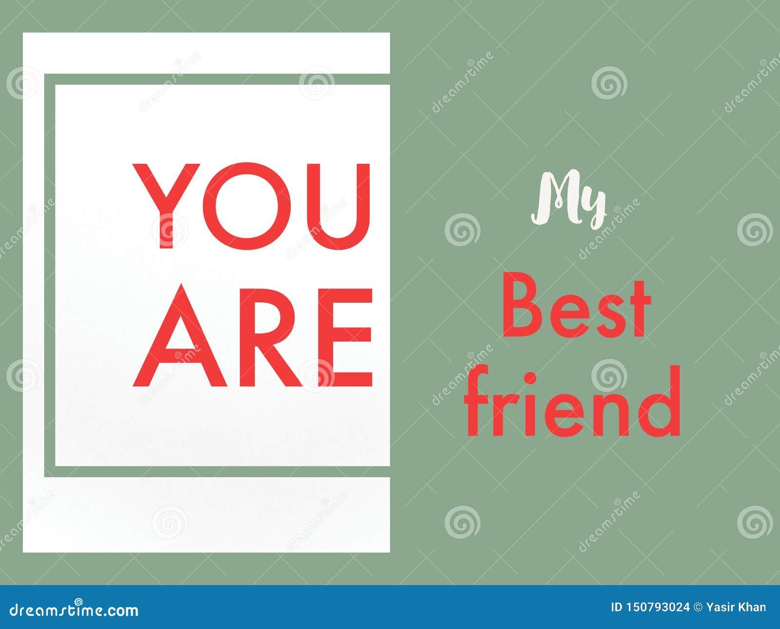Είστε η κάρτα καλύτερων φίλων μου για τη φιλία