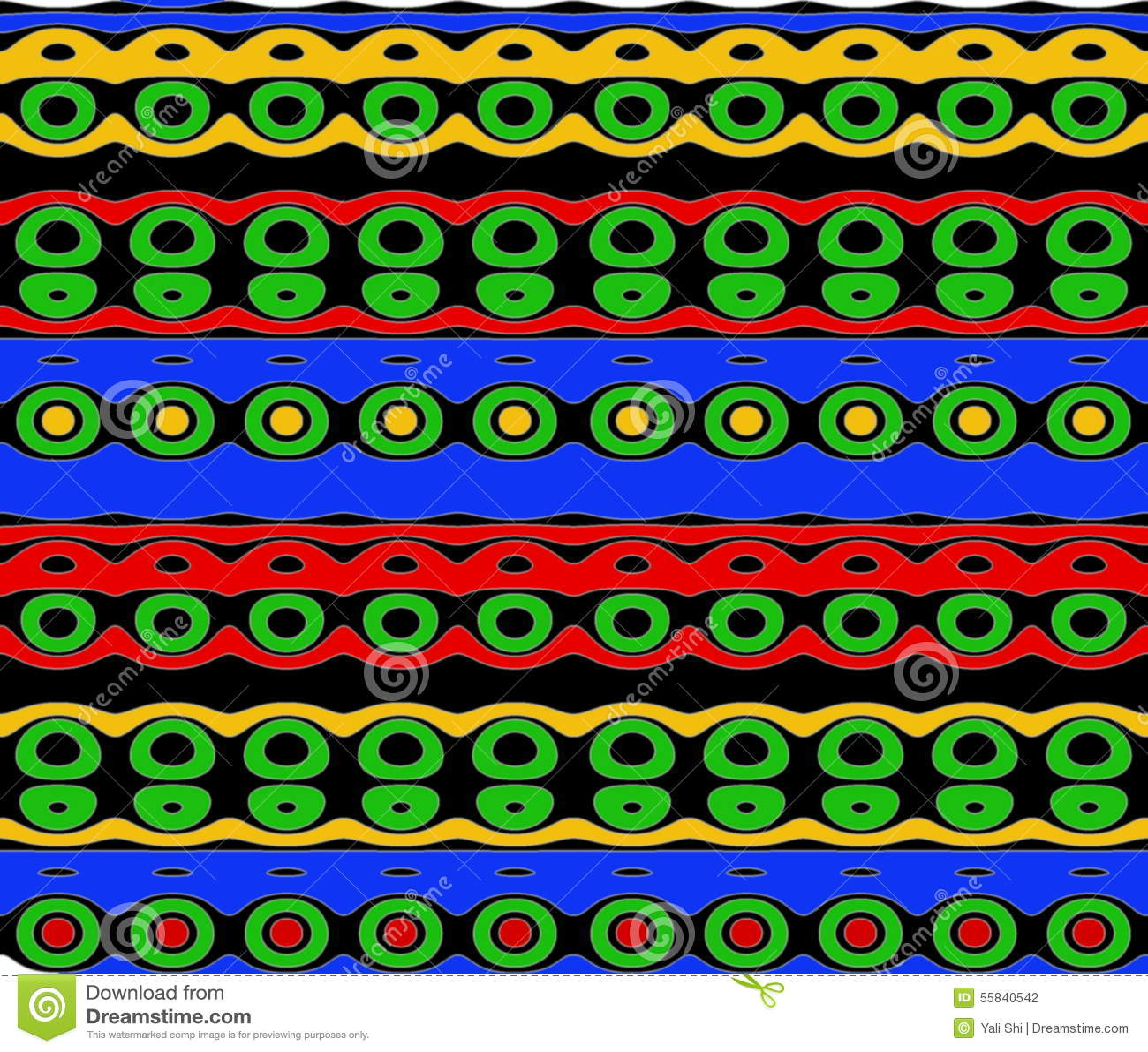 Εγγενές σχέδιο στα φωτεινά χρώματα