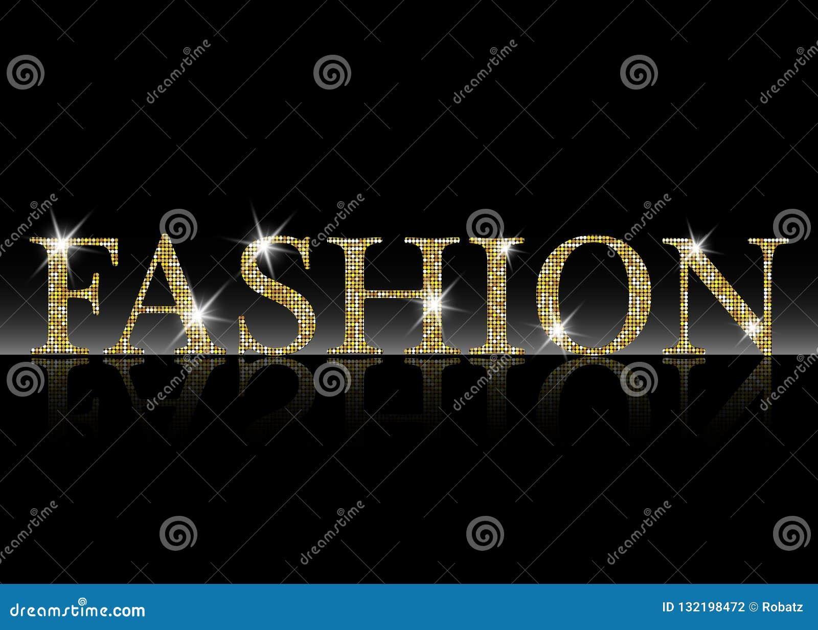 Εγγραφή μόδας Χρυσές λαμπρές ακτινοβολώντας διανυσματικές επιστολές μόδας Μπορέστε να χρησιμοποιηθείτε για την τυπωμένη ύλη: τσάν