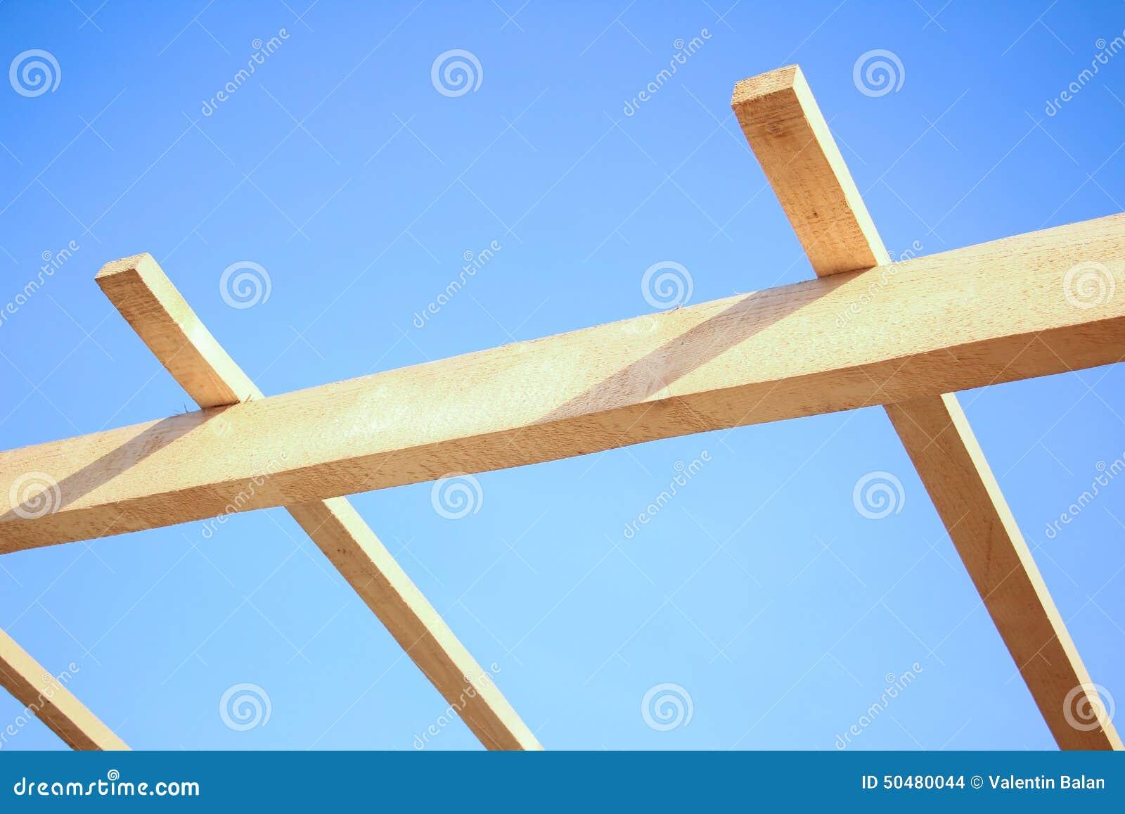Εγκατάσταση των ξύλινων ακτίνων στην κατασκευή