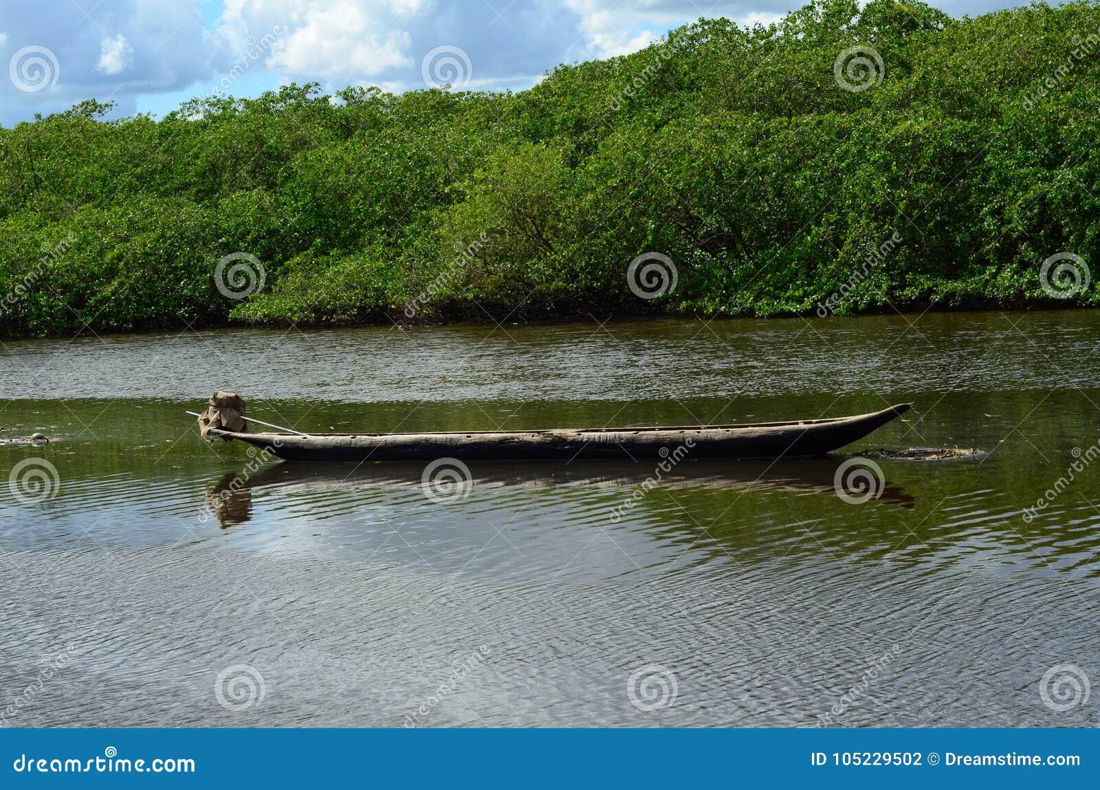 Εγκαταλειμμένο κανό στο Αμαζόνιο