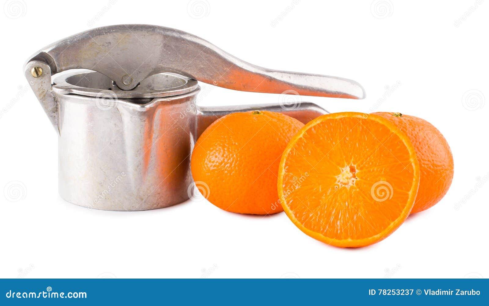 Εγχειρίδιο και πορτοκάλια εξολκέων χυμού
