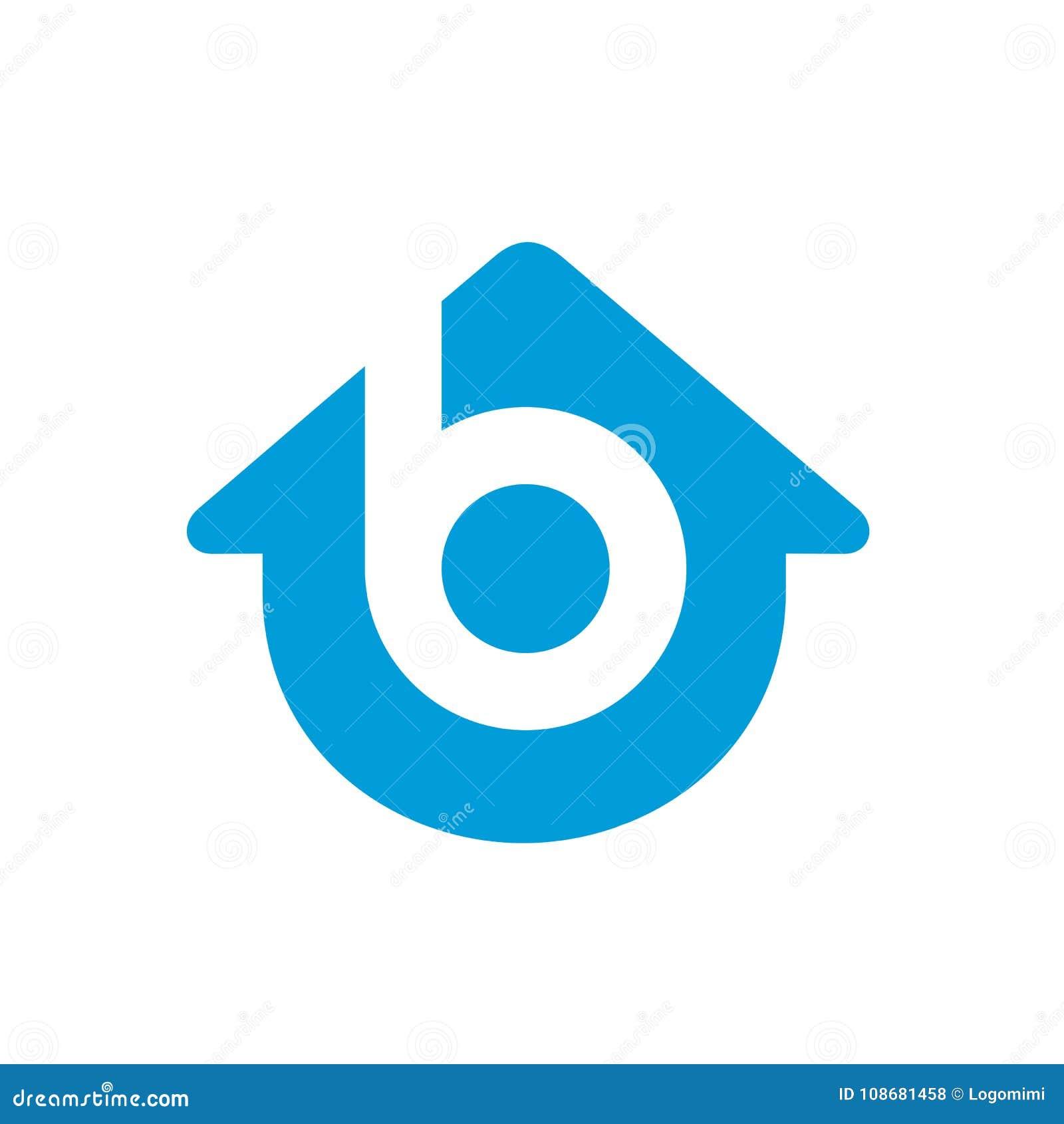 Εγχώριο διανυσματικό λογότυπο γραμμάτων Β