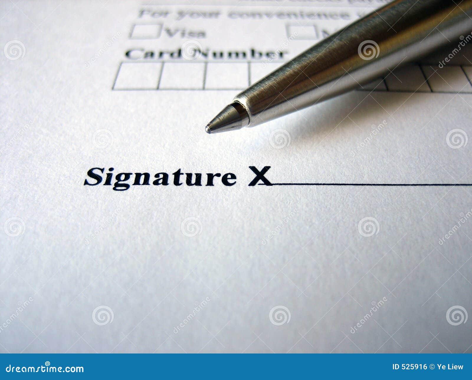 εδώ παρακαλώ υπογράψτε