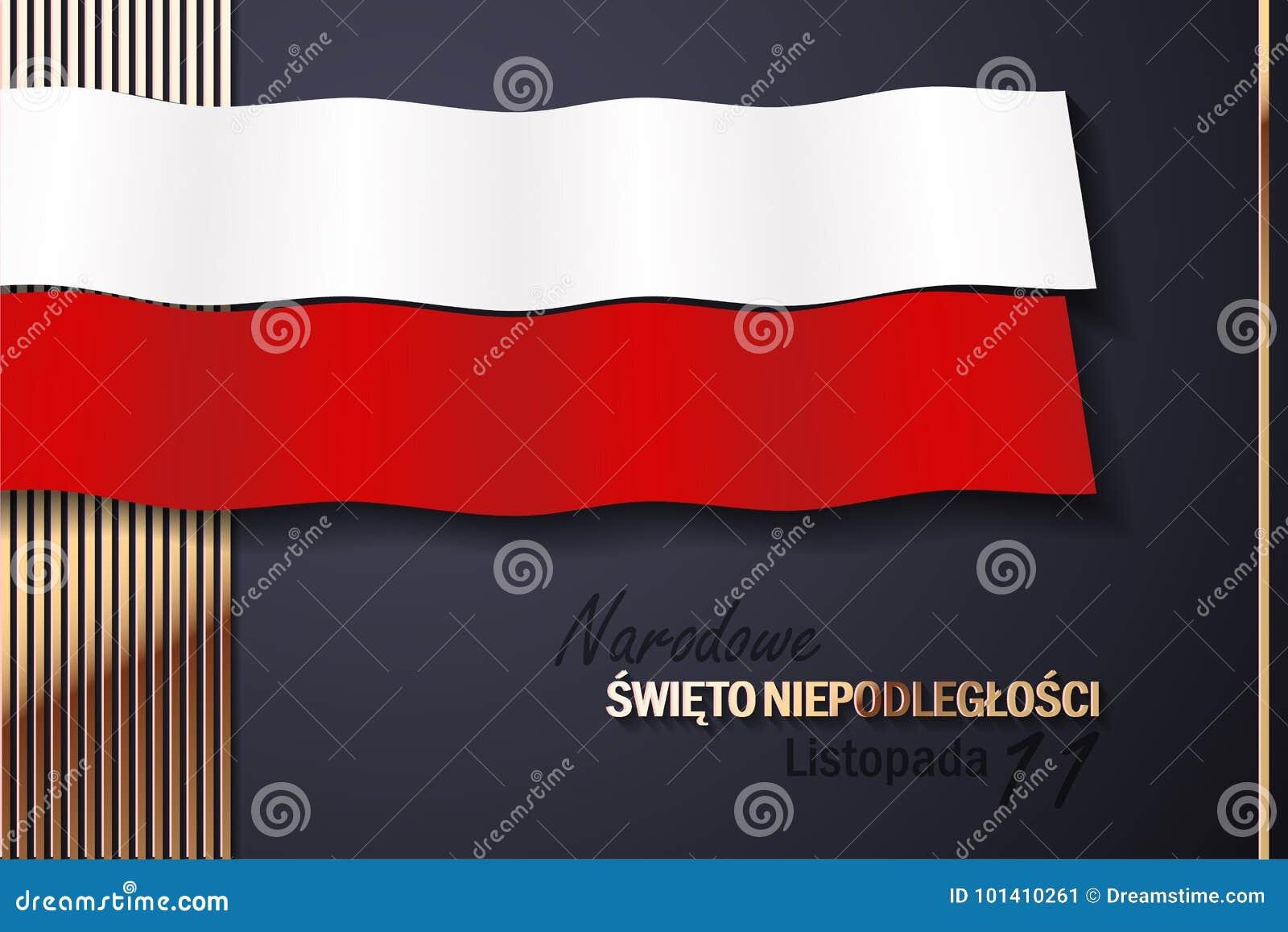 Εθνική ημέρα της ανεξαρτησίας της Πολωνίας με τα χρυσά στοιχεία