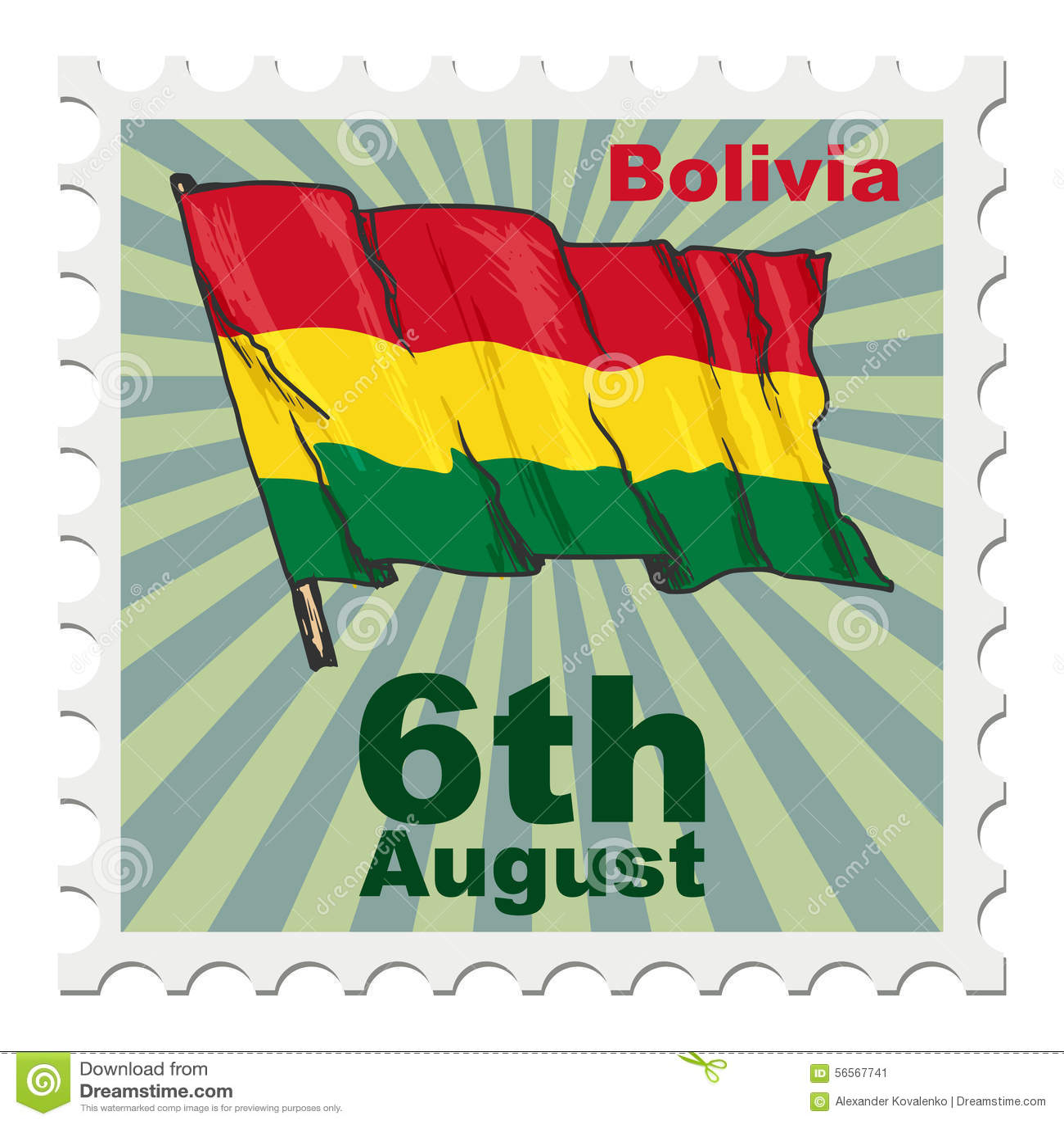 Download Εθνική μέρα της Βολιβίας απεικόνιση αποθεμάτων. εικονογραφία από τρύγος - 56567741