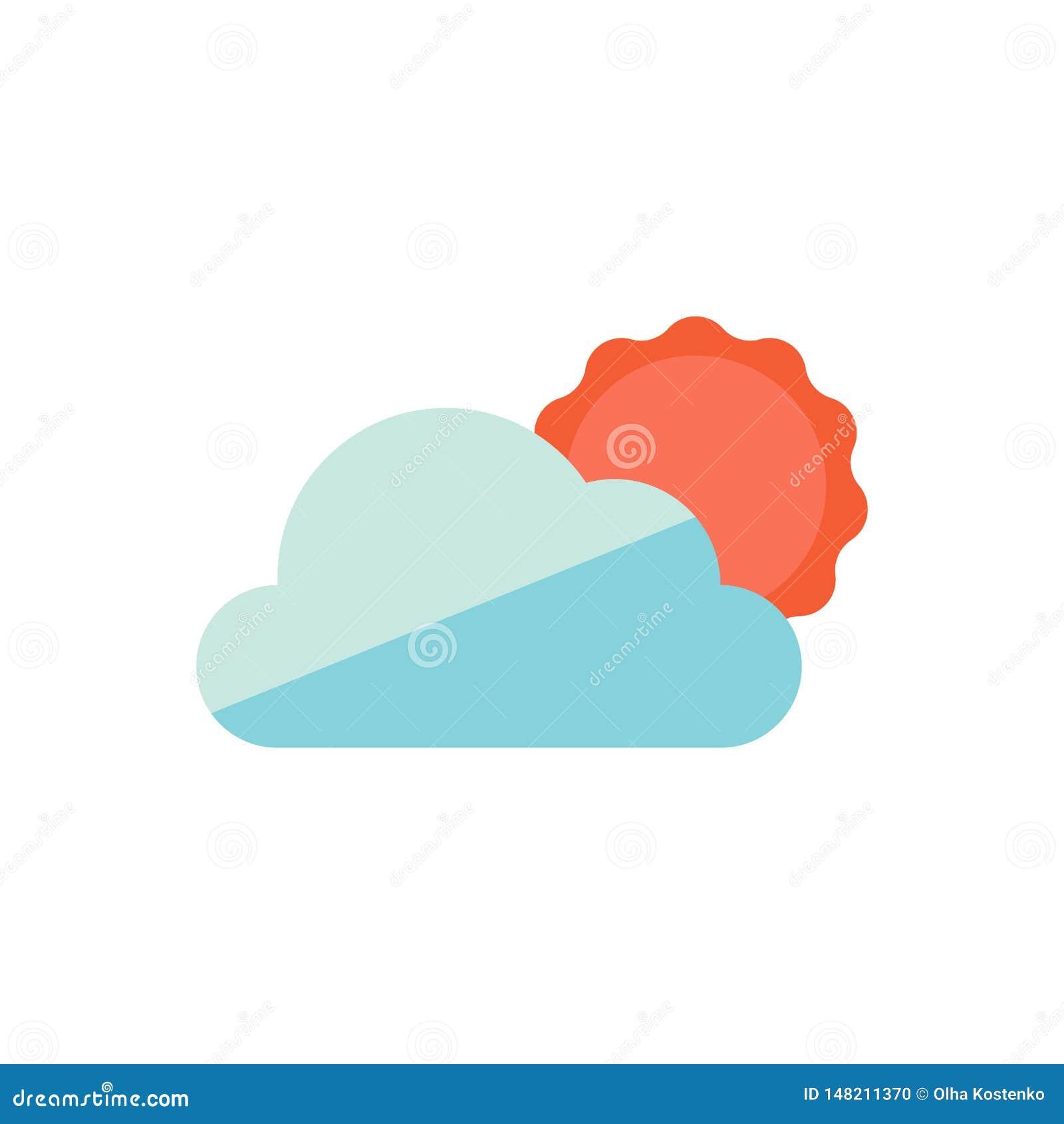 Εικονίδια ήλιων και σύννεφων