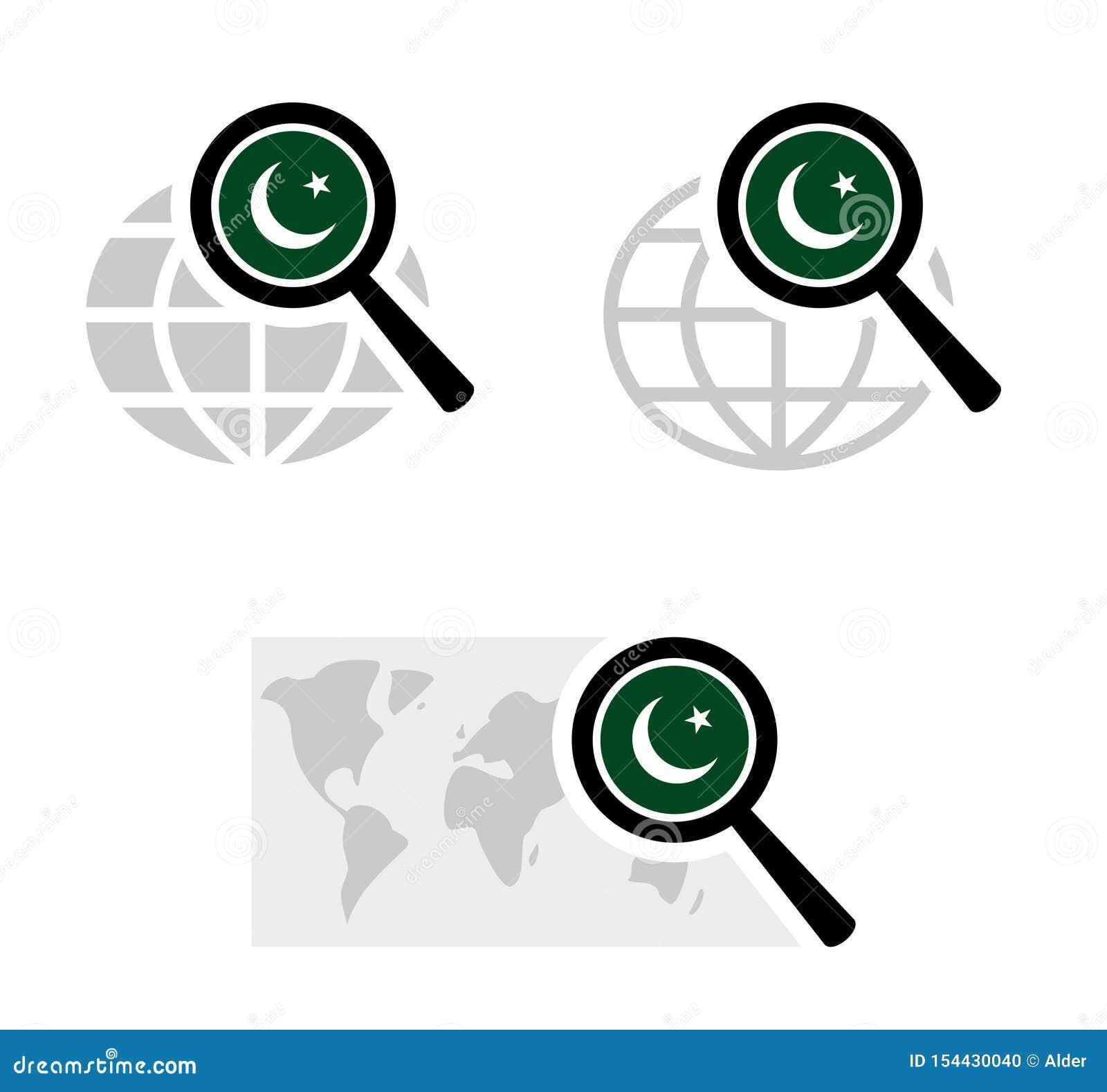 Εικονίδια αναζήτησης με την πακιστανική σημαία