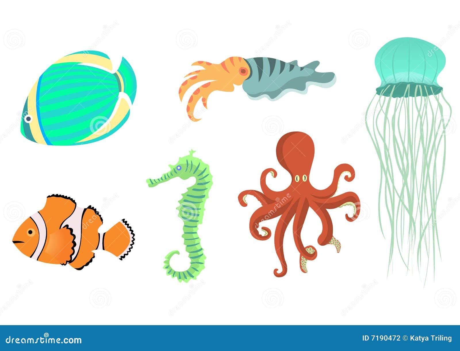 Εικονίδια ζώων θάλασσας