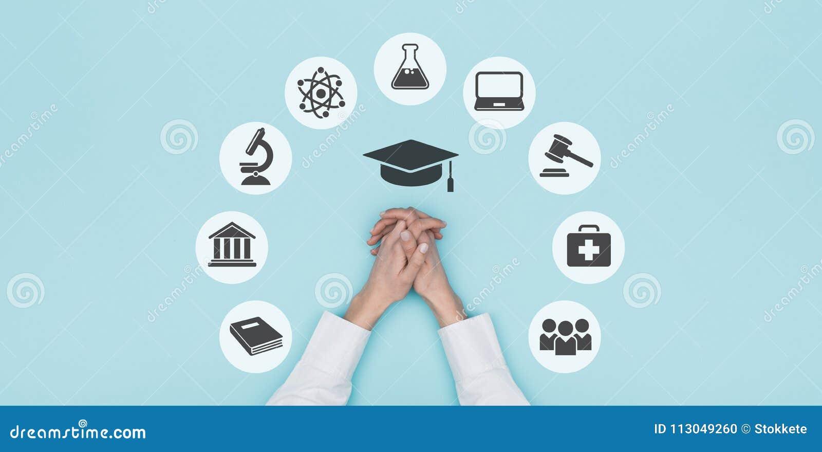 Εικονίδια πανεπιστημίου και εκπαίδευσης