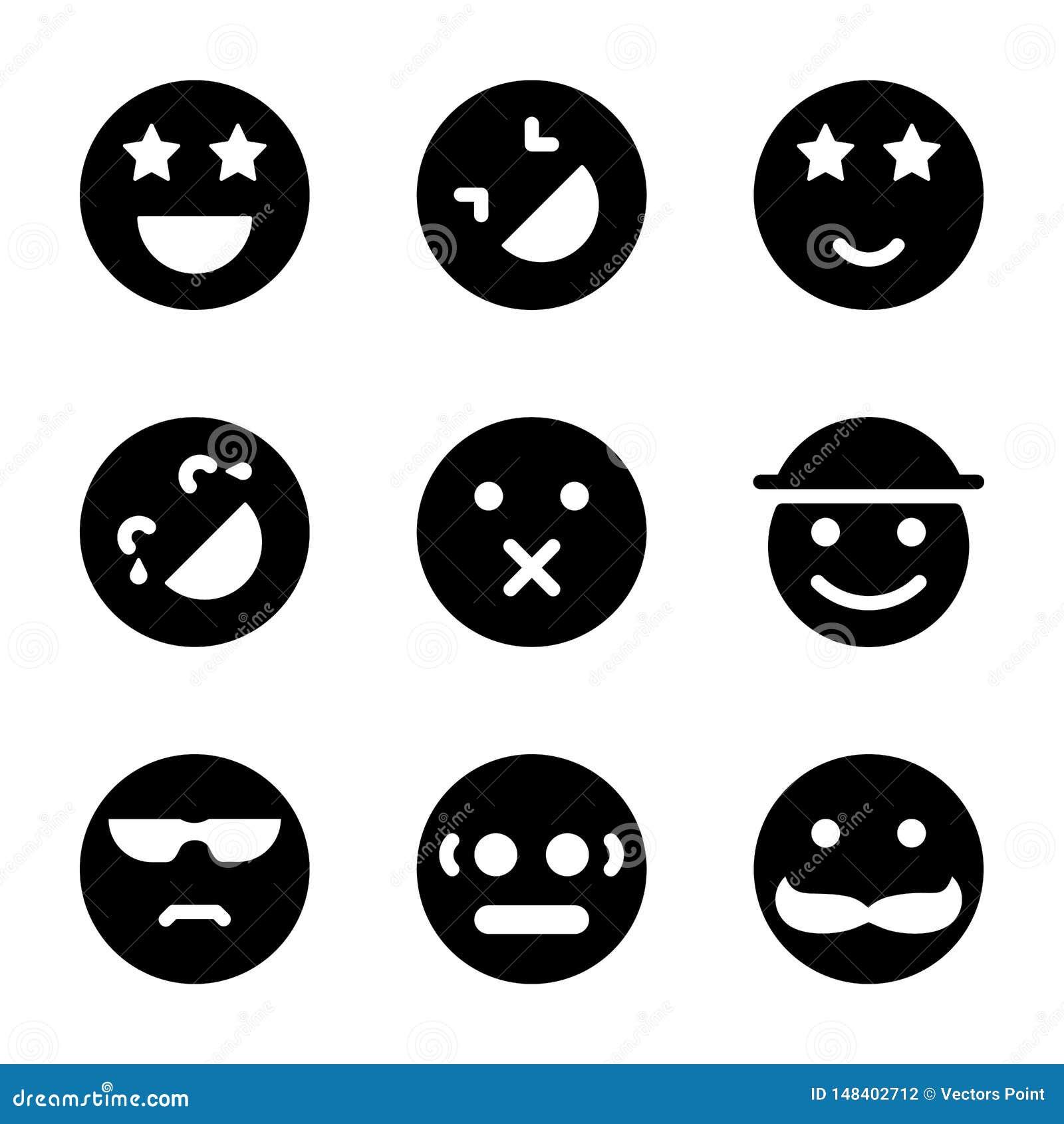 Εικονίδια Emoticons καθορισμένα