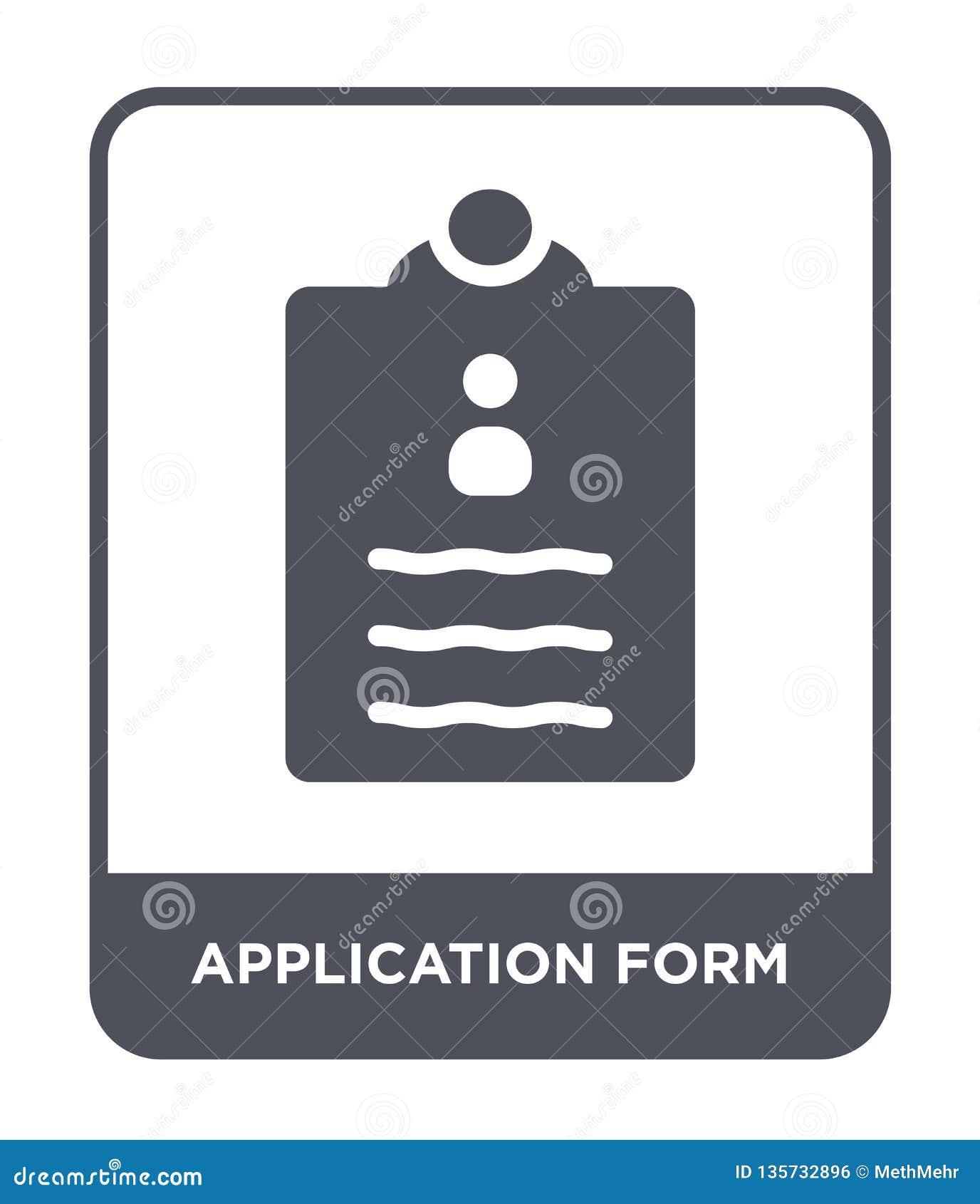 εικονίδιο αίτησης υποψηφιότητας στο καθιερώνον τη μόδα ύφος σχεδίου Εικονίδιο αίτησης υποψηφιότητας που απομονώνεται στο άσπρο υπ