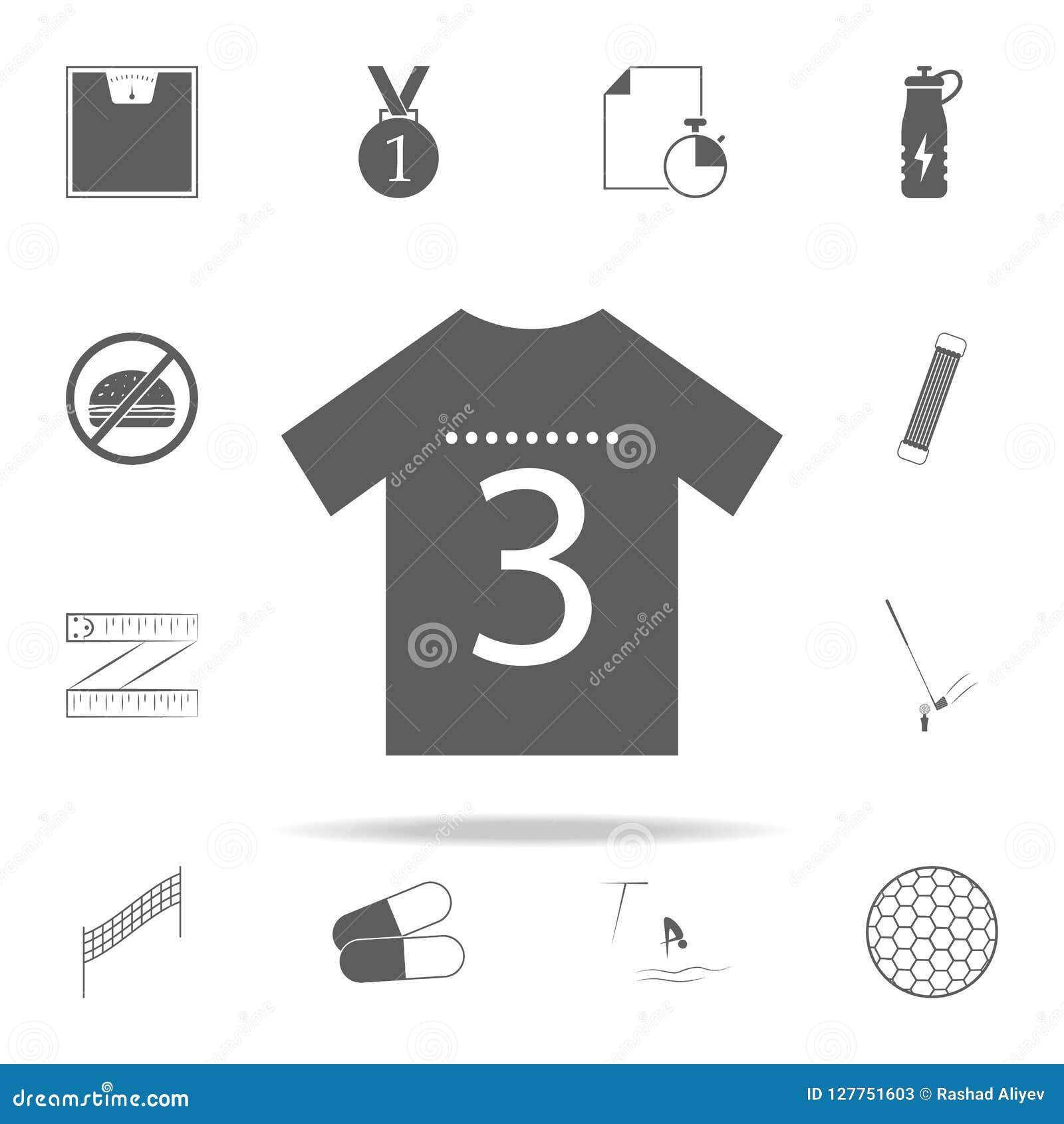 εικονίδιο αθλητικών πουκάμισων Καθολικό αθλητικών εικονιδίων που τίθεται για τον Ιστό και κινητό