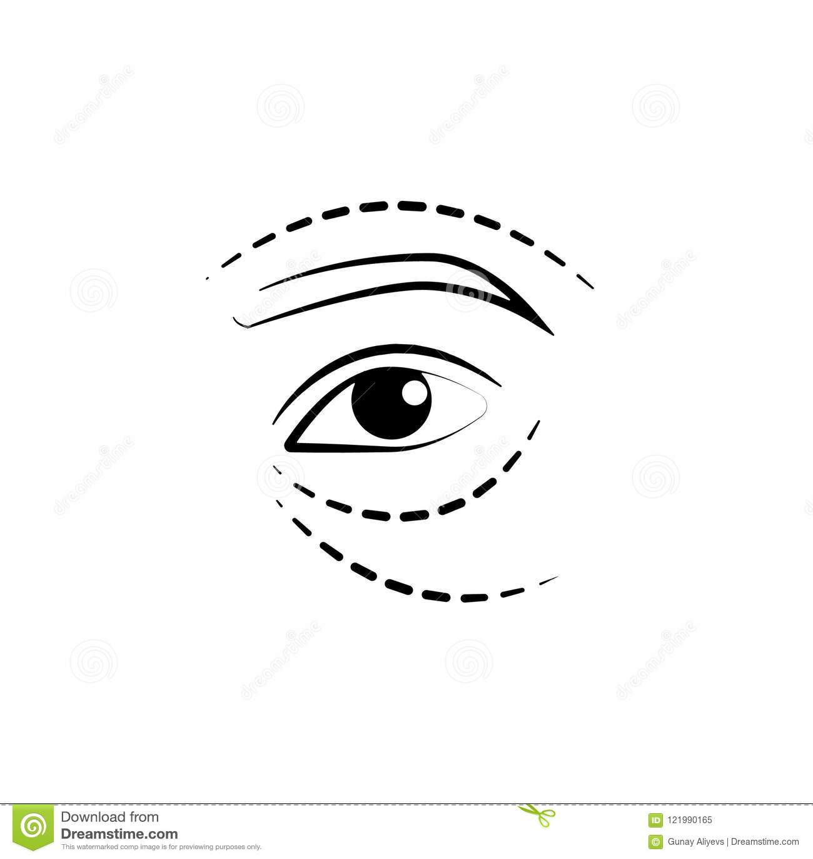 εικονίδιο ανελκυστήρων ματιών Στοιχείο του αντι εικονιδίου γήρανσης για την κινητούς έννοια και τον Ιστό apps Το λεπτό εικονίδιο