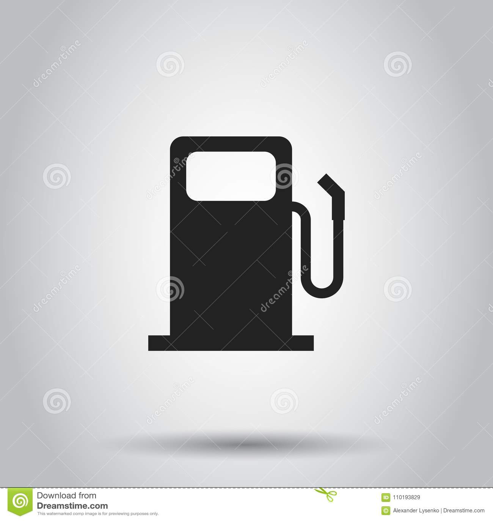 Εικονίδιο βενζινάδικων καυσίμων Διανυσματική απεικόνιση απομονωμένος backgroun