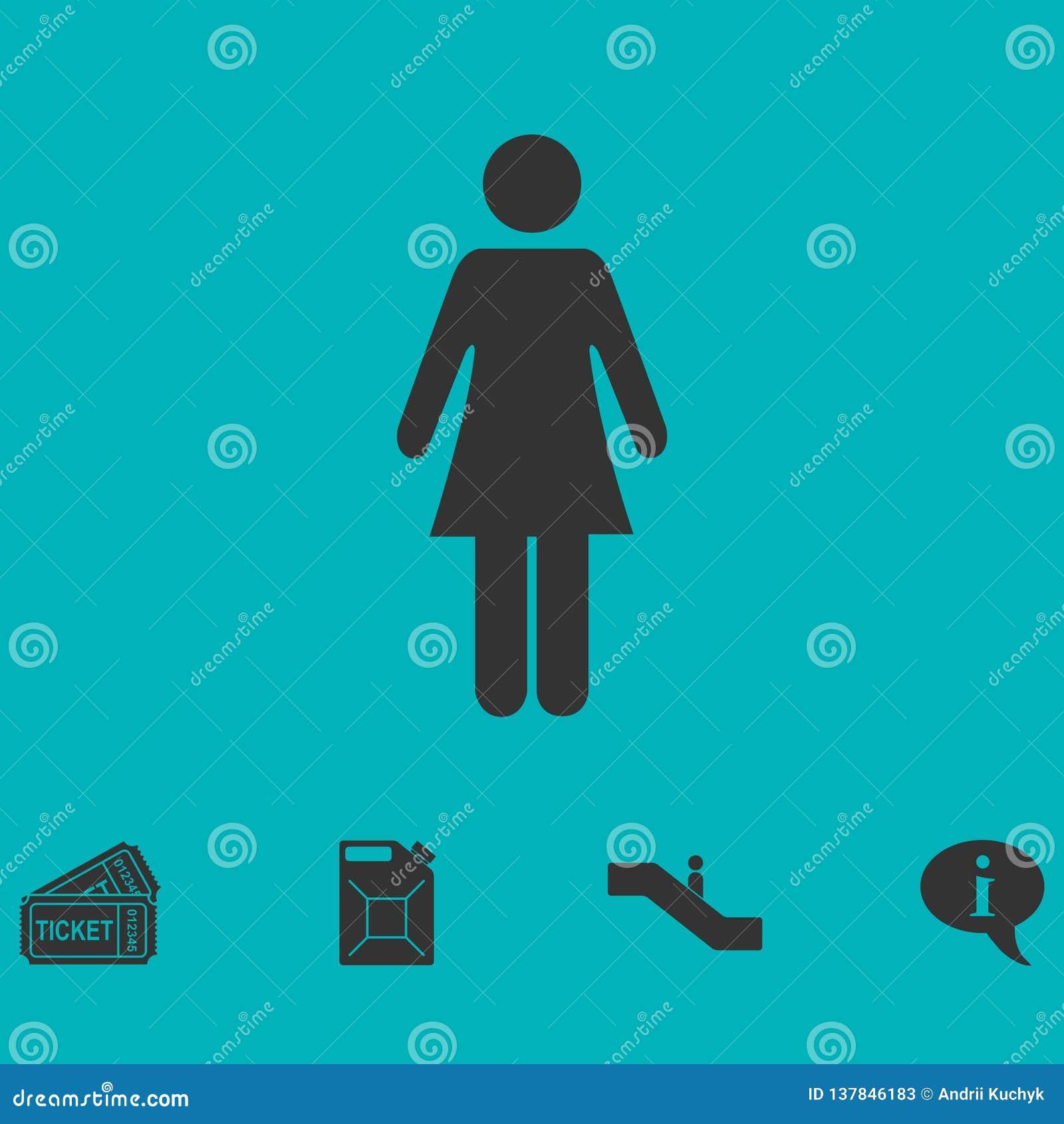 Εικονίδιο γυναικών επίπεδο