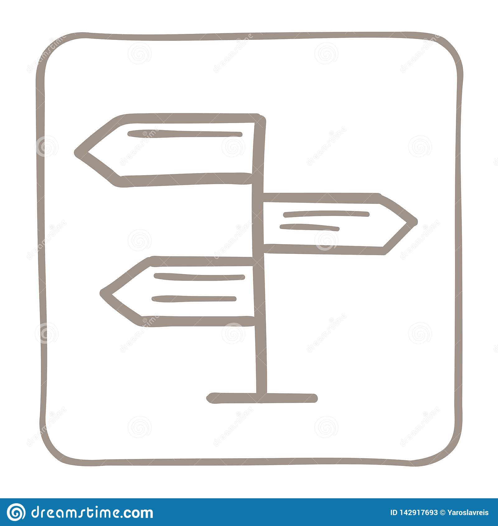 Εικονίδιο δεικτών βελών σε ένα ανοικτό καφέ πλαίσιο r