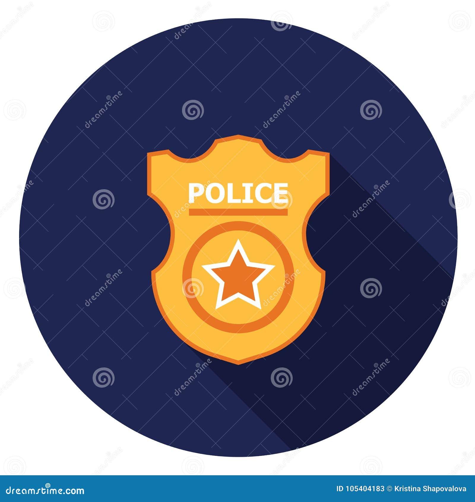 Download Εικονίδιο διακριτικών αστυνομίας στο επίπεδο σχέδιο Απεικόνιση αποθεμάτων - εικονογραφία από ανασκόπησης, κυβερνήτης: 105404183