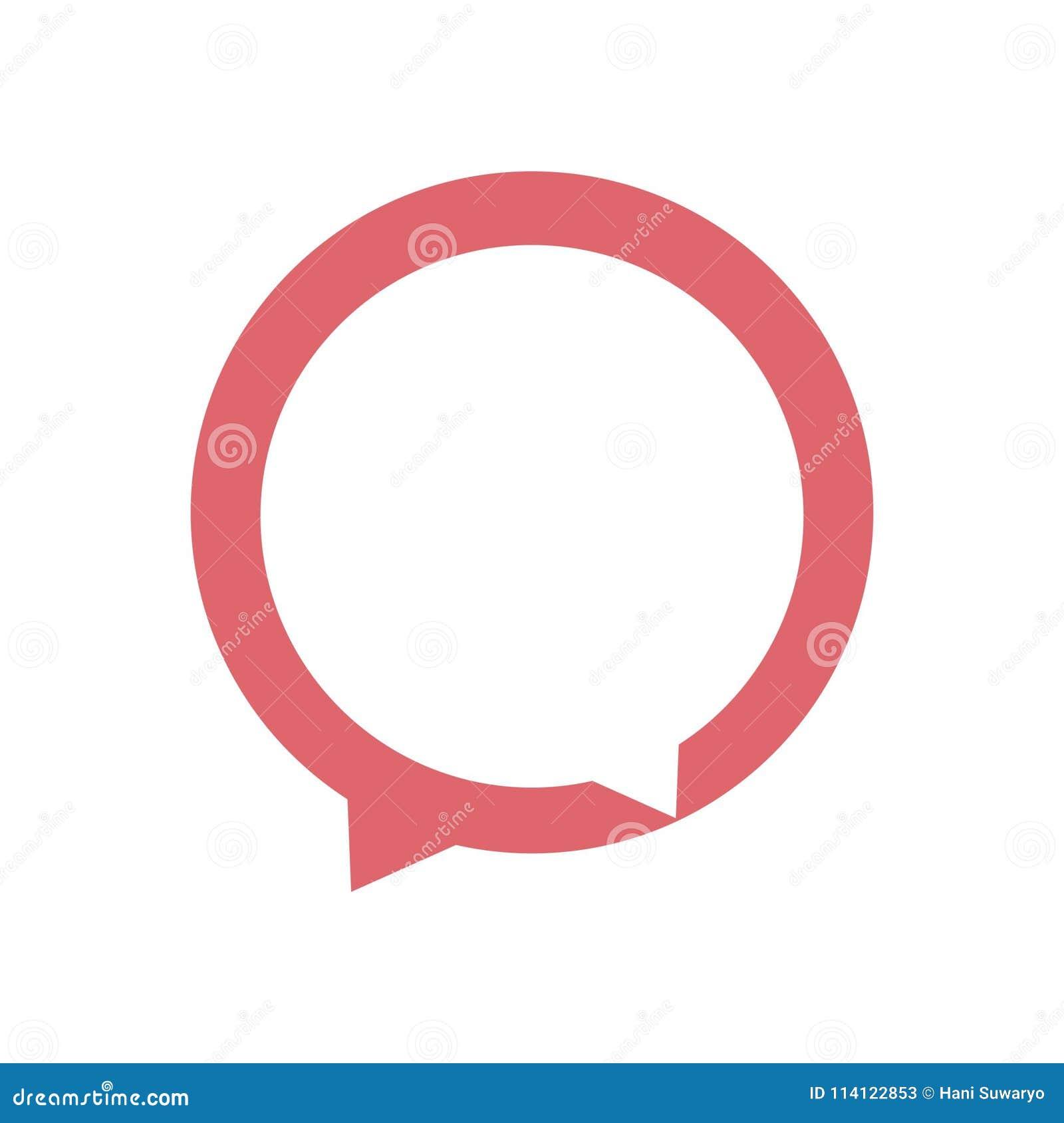 Εικονίδιο διαλόγου Διανυσματική απεικόνιση έννοιας λογότυπων συνομιλίας στο επίπεδο ύφος
