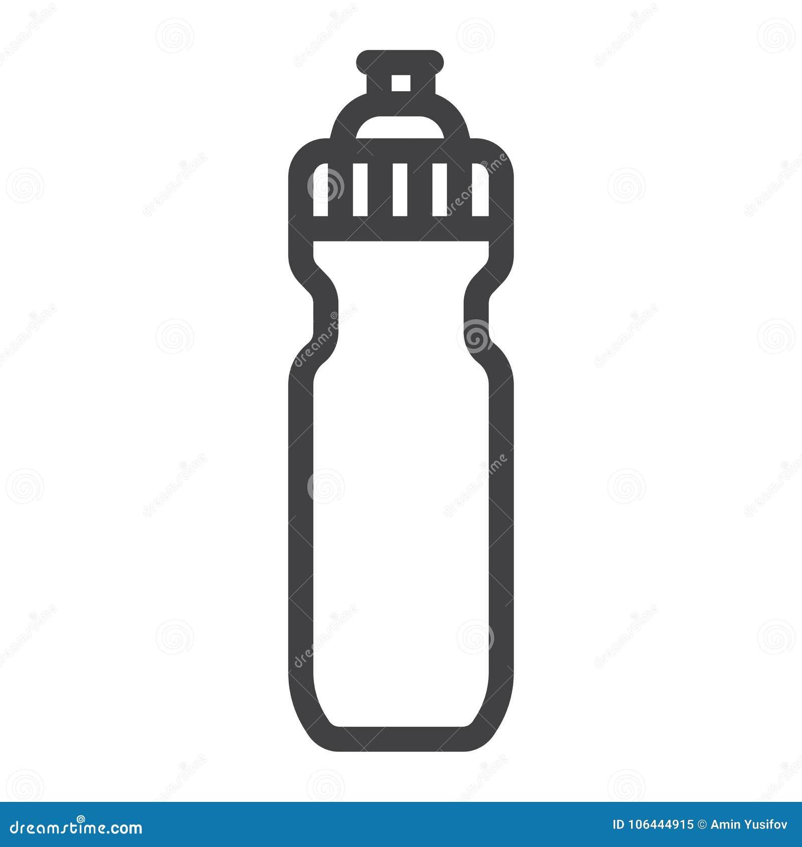 Εικονίδιο, ικανότητα και αθλητισμός γραμμών αθλητικών μπουκαλιών νερό
