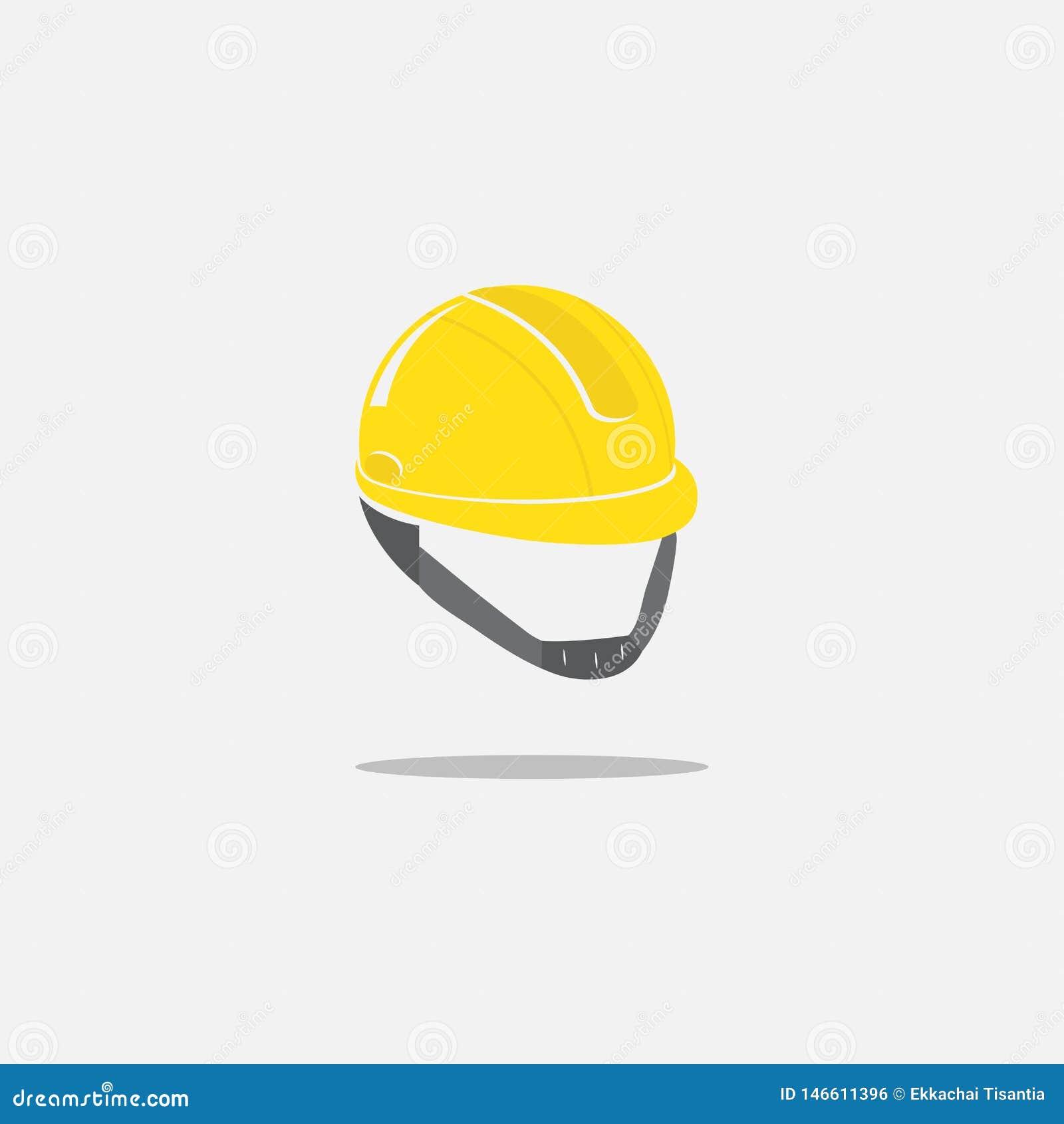 Εικονίδιο κρανών κατασκευής στο άσπρο υπόβαθρο σκληρό καπέλο ασφάλειας r r