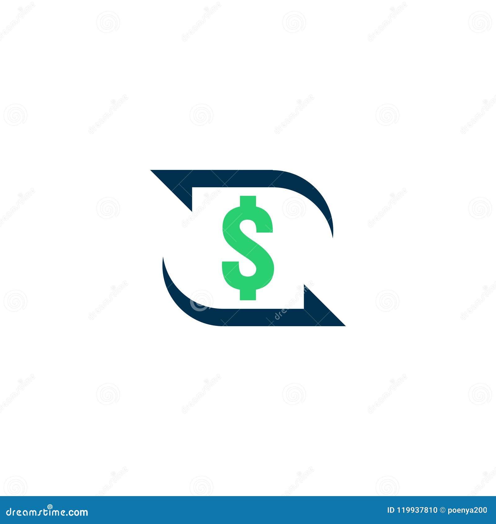 Εικονίδιο μεταφοράς χρημάτων Σημάδι περιγράμματος Chargeback γρήγορο πίσω σύμβολο μετρητών κεφαλαίων Η ανταλλαγή νομίσματος αναχρ