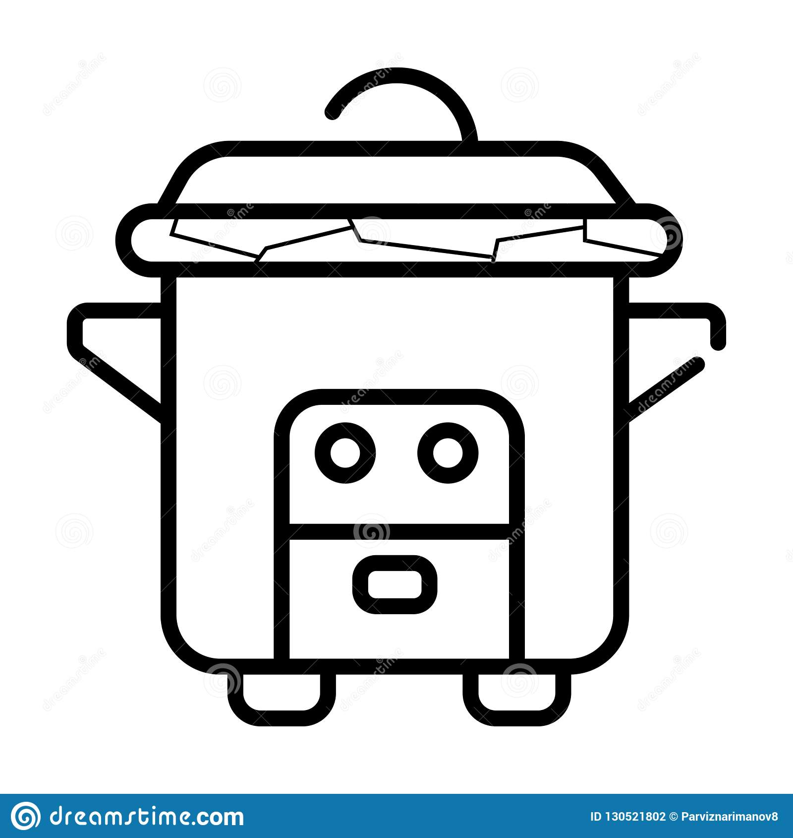 Εικονίδιο μηχανών κουζινών multicooker