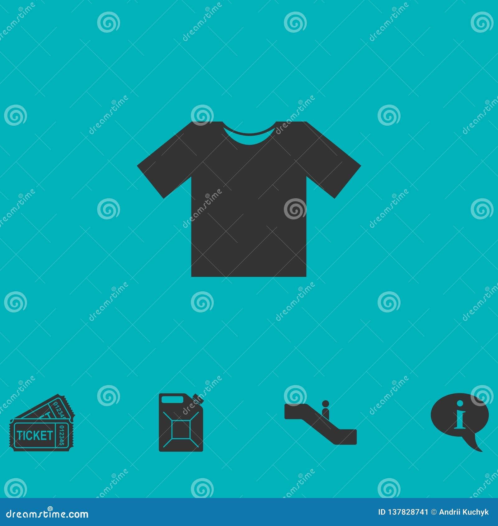 Εικονίδιο μπλουζών επίπεδο