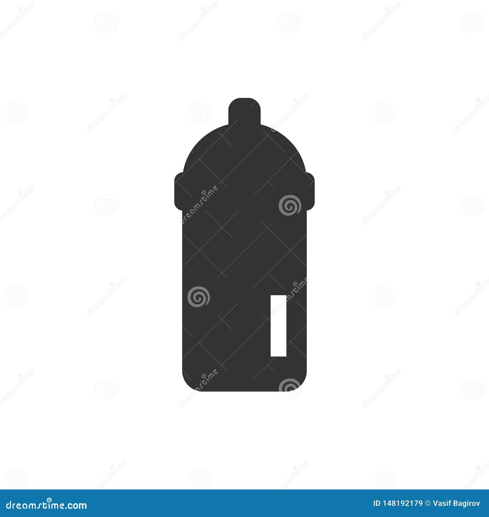 Εικονίδιο μπουκαλιών σίτισης - διάνυσμα