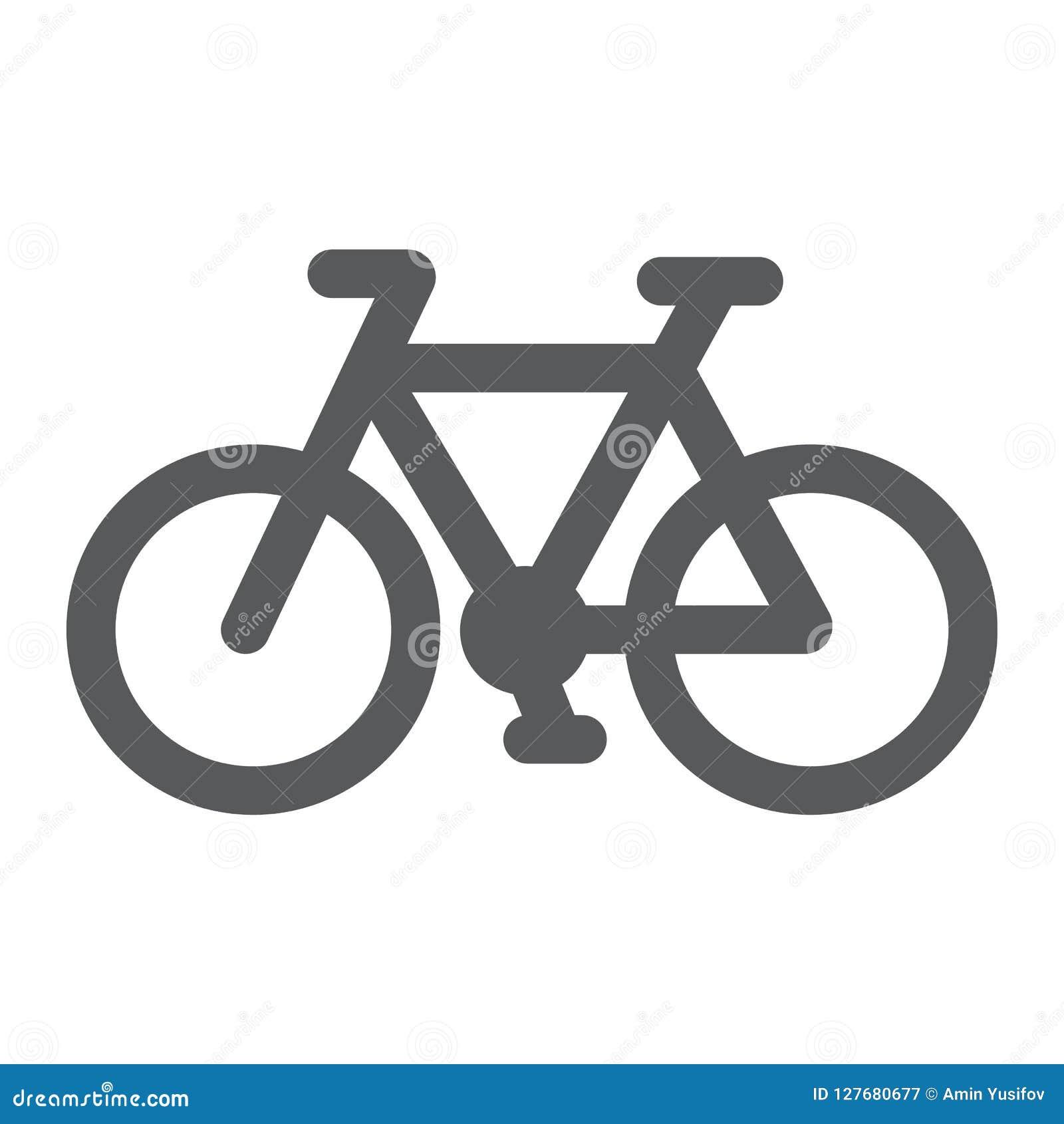 Εικονίδιο ποδηλάτων glyph, κύκλος και αθλητισμός, σημάδι ποδηλάτων, διανυσματική γραφική παράσταση, ένα στερεό σχέδιο σε ένα άσπρ