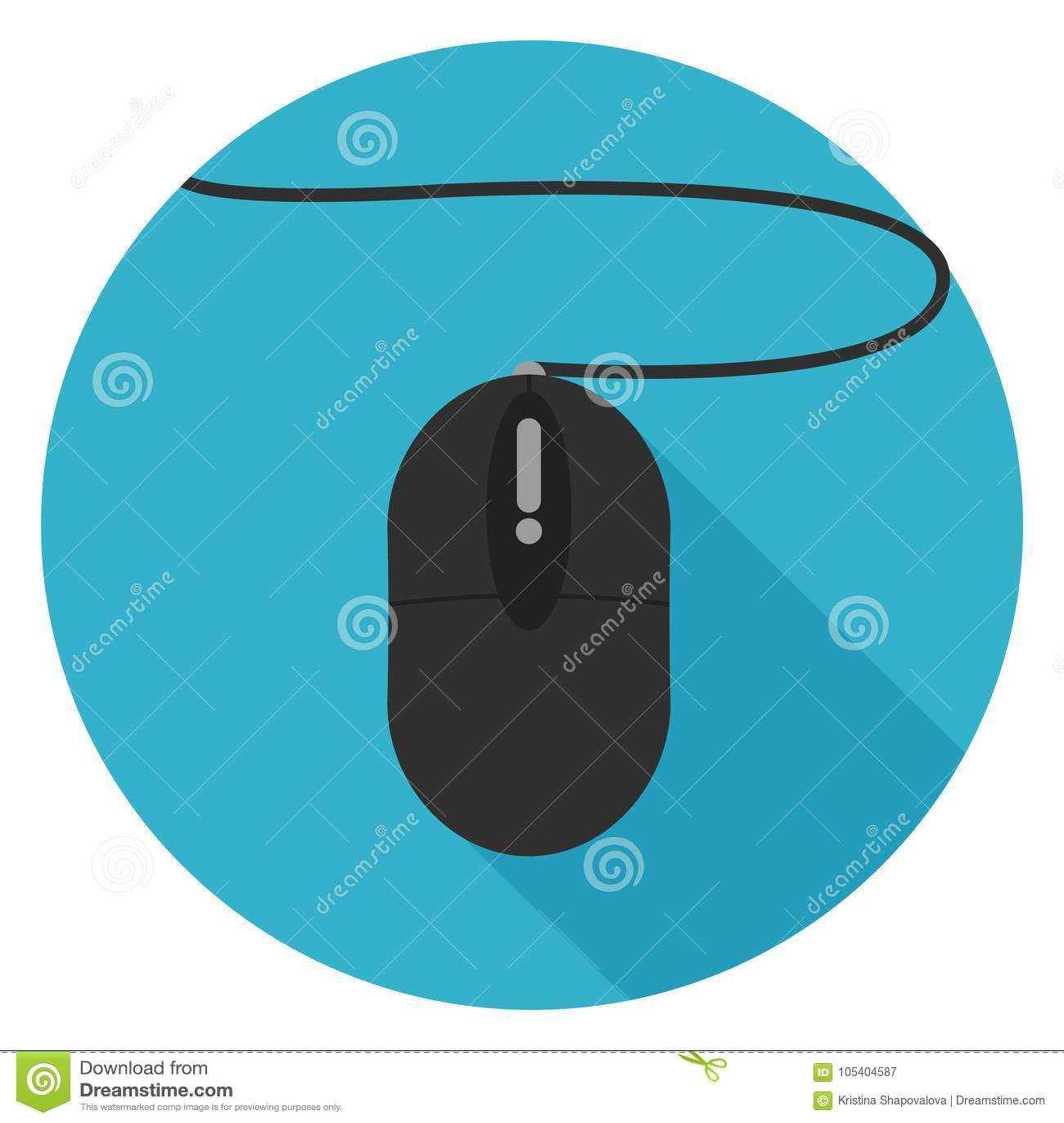 Download Εικονίδιο ποντικιών υπολογιστών στο επίπεδο σχέδιο Απεικόνιση αποθεμάτων - εικονογραφία από γραφείο, χτυπήστε: 105404587