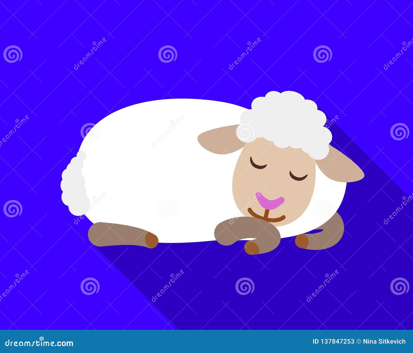 Εικονίδιο προβάτων ύπνου, επίπεδο ύφος