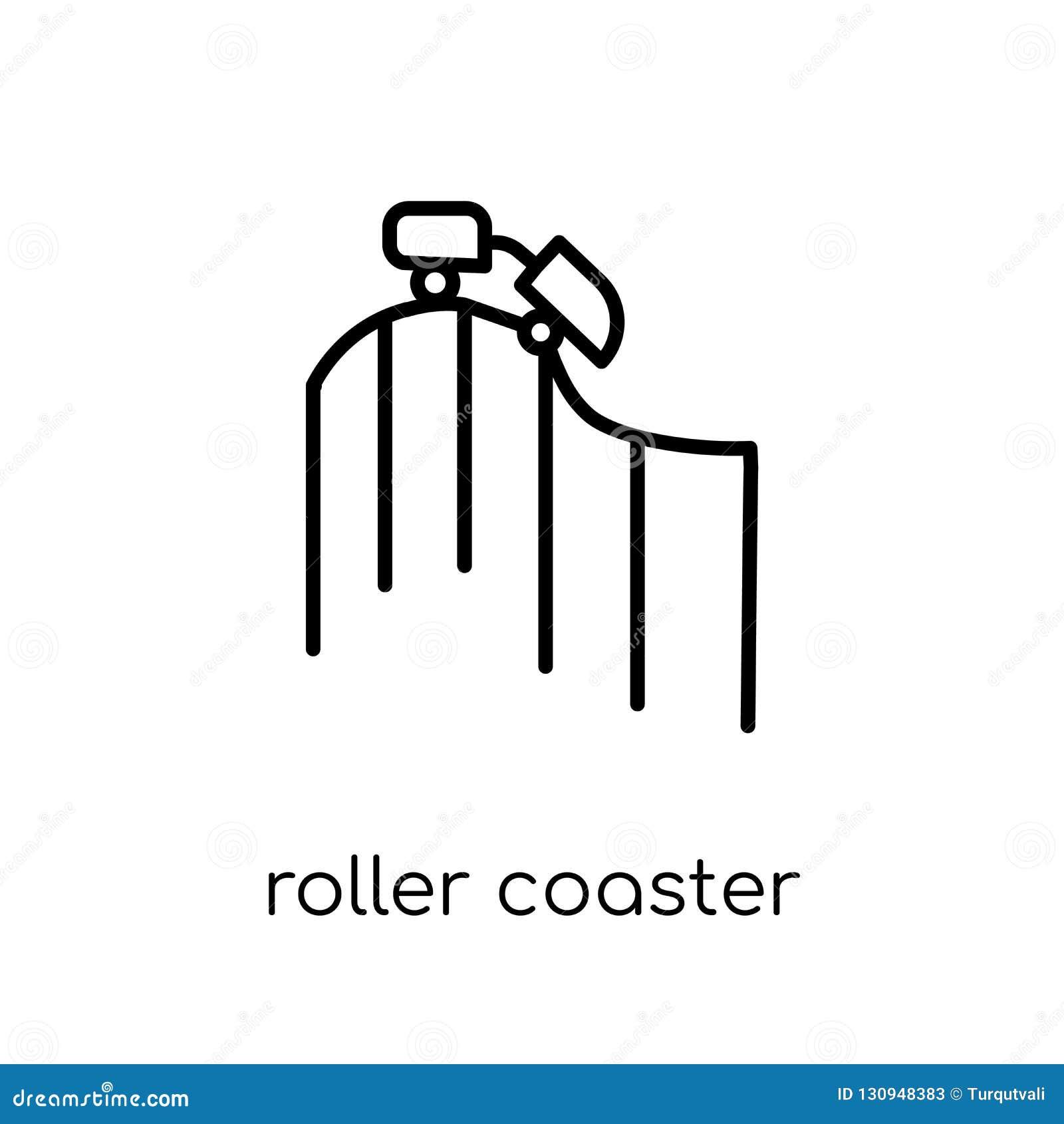 Εικονίδιο ρόλερ κόστερ από τη συλλογή ψυχαγωγίας