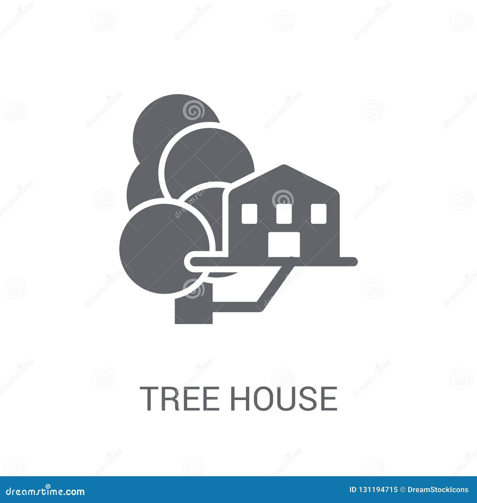 Εικονίδιο σπιτιών δέντρων