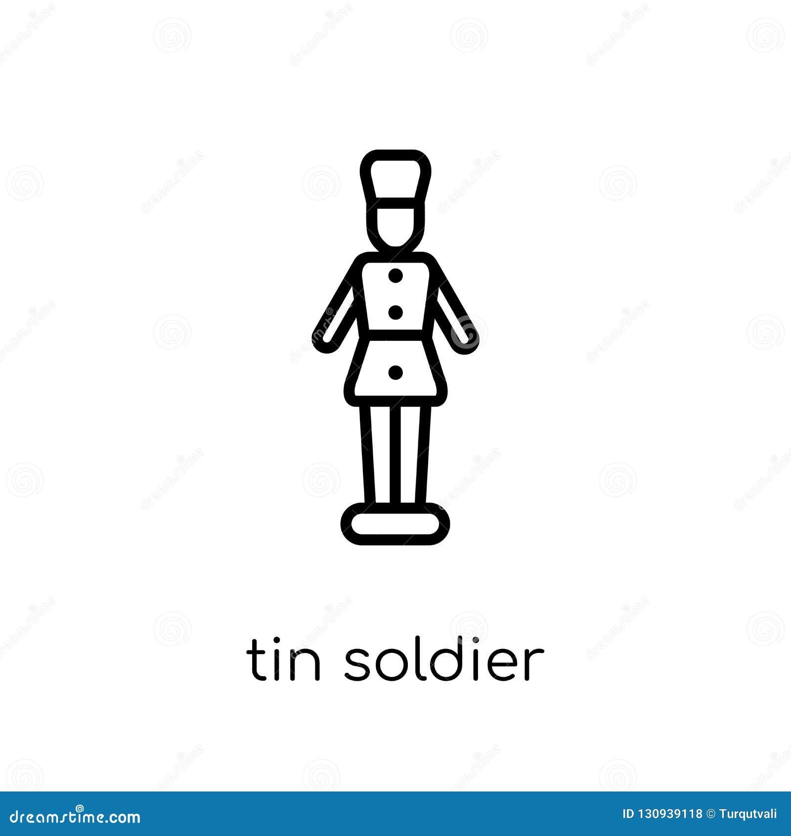 Εικονίδιο στρατιωτών κασσίτερου