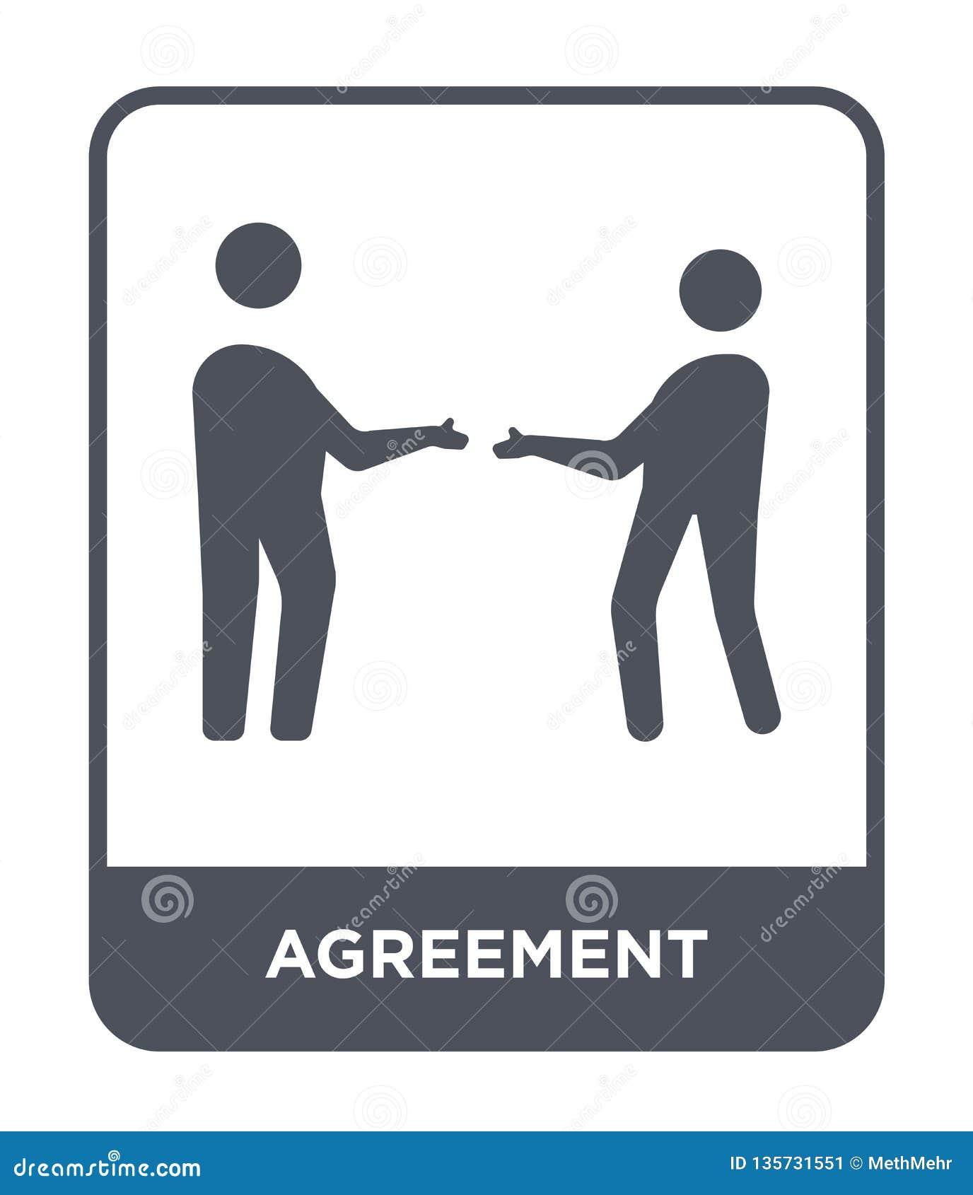 εικονίδιο συμφωνίας στο καθιερώνον τη μόδα ύφος σχεδίου Εικονίδιο συμφωνίας που απομονώνεται στο άσπρο υπόβαθρο απλό και σύγχρονο