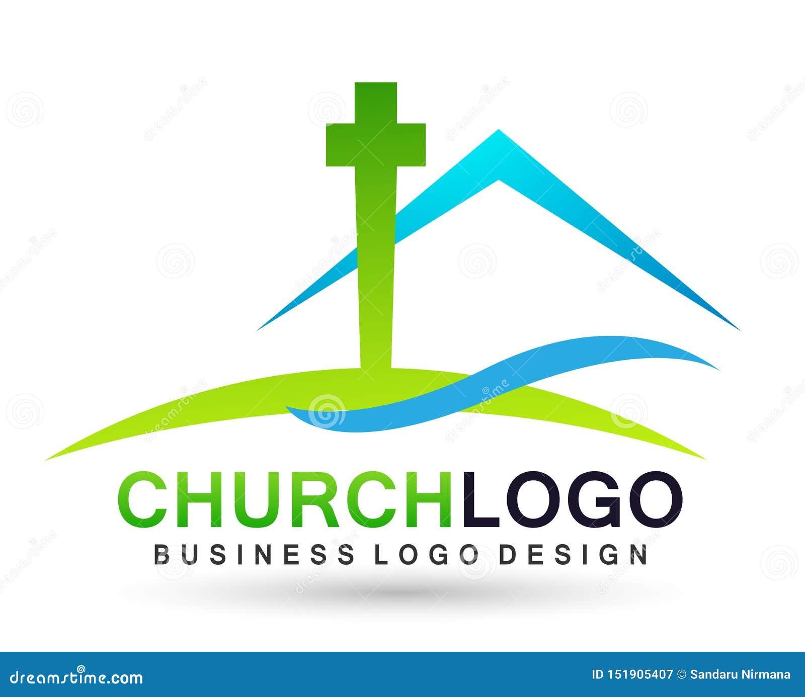 Εικονίδιο σχεδίου λογότυπων αγάπης προσοχής ένωσης ανθρώπων εκκλησιών πόλεων στο άσπρο υπόβαθρο
