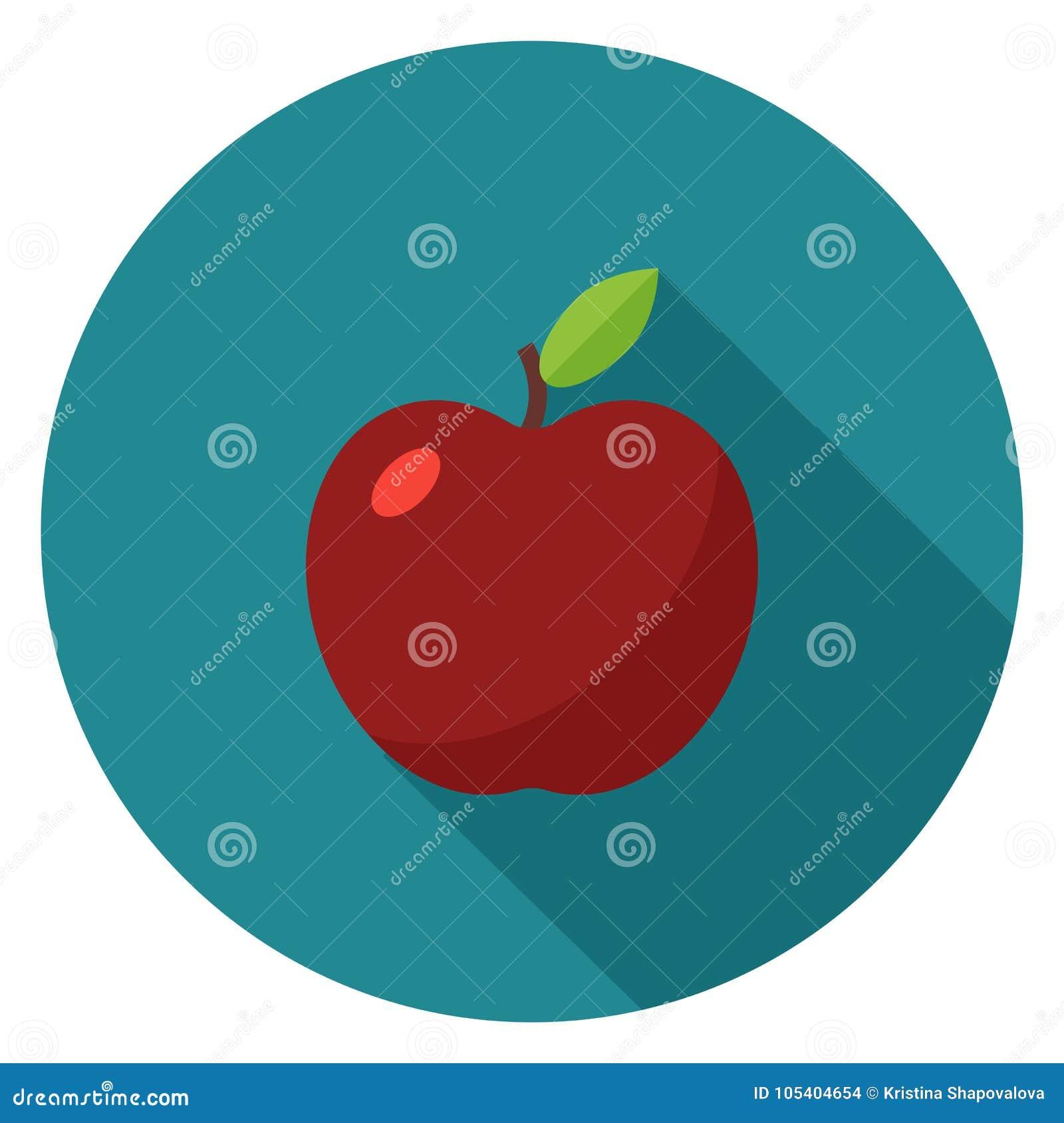 Download Εικονίδιο της Apple στο επίπεδο σχέδιο Απεικόνιση αποθεμάτων - εικονογραφία από θρεπτικός, φρεσκάδα: 105404654