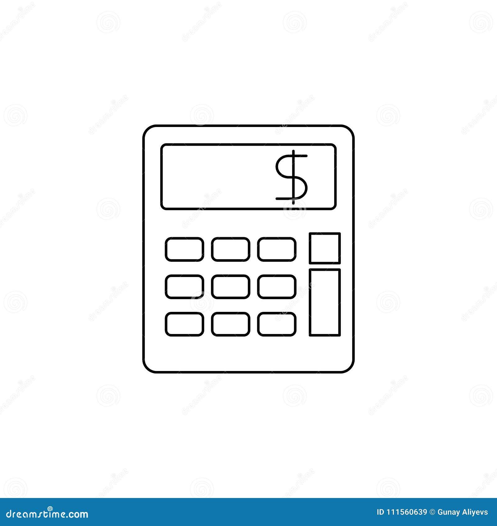 Εικονίδιο υπολογιστών Στοιχείο του τραπεζικού εικονιδίου για την κινητούς έννοια και τον Ιστό apps Λεπτό εικονίδιο γραμμών για το