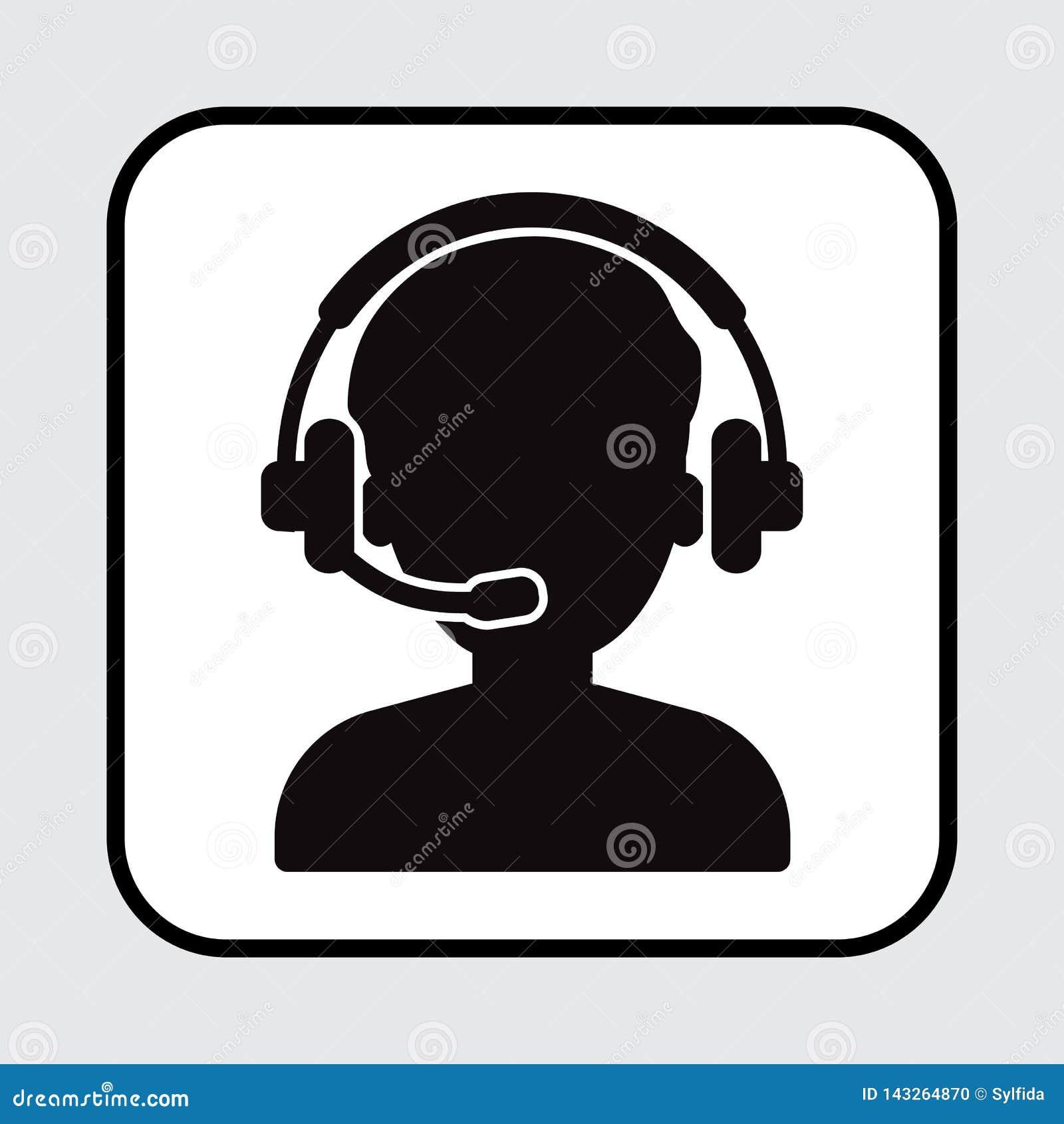 Εικονίδιο χειριστών, συνομιλία υποστήριξης διάνυσμα