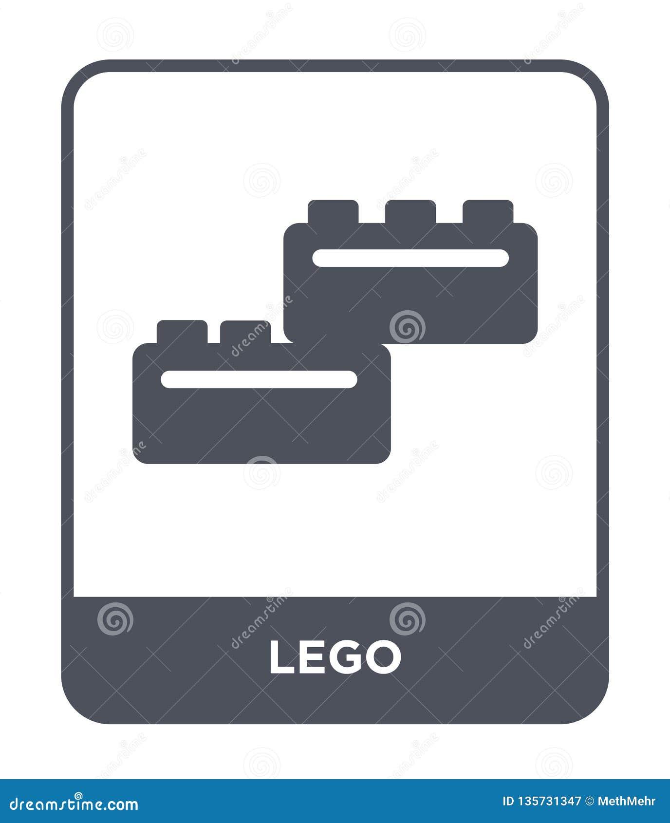 εικονίδιο lego στο καθιερώνον τη μόδα ύφος σχεδίου εικονίδιο lego που απομονώνεται στο άσπρο υπόβαθρο απλό και σύγχρονο επίπεδο σ