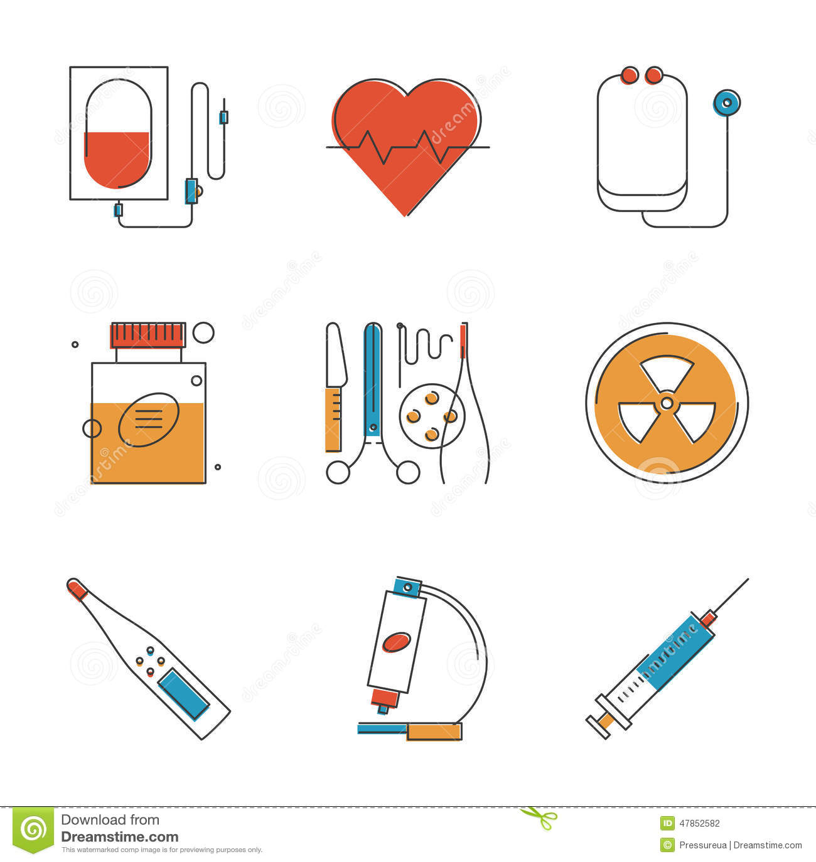 Εικονίδια ιατρικών και γραμμών υγειονομικής περίθαλψης καθορισμένα