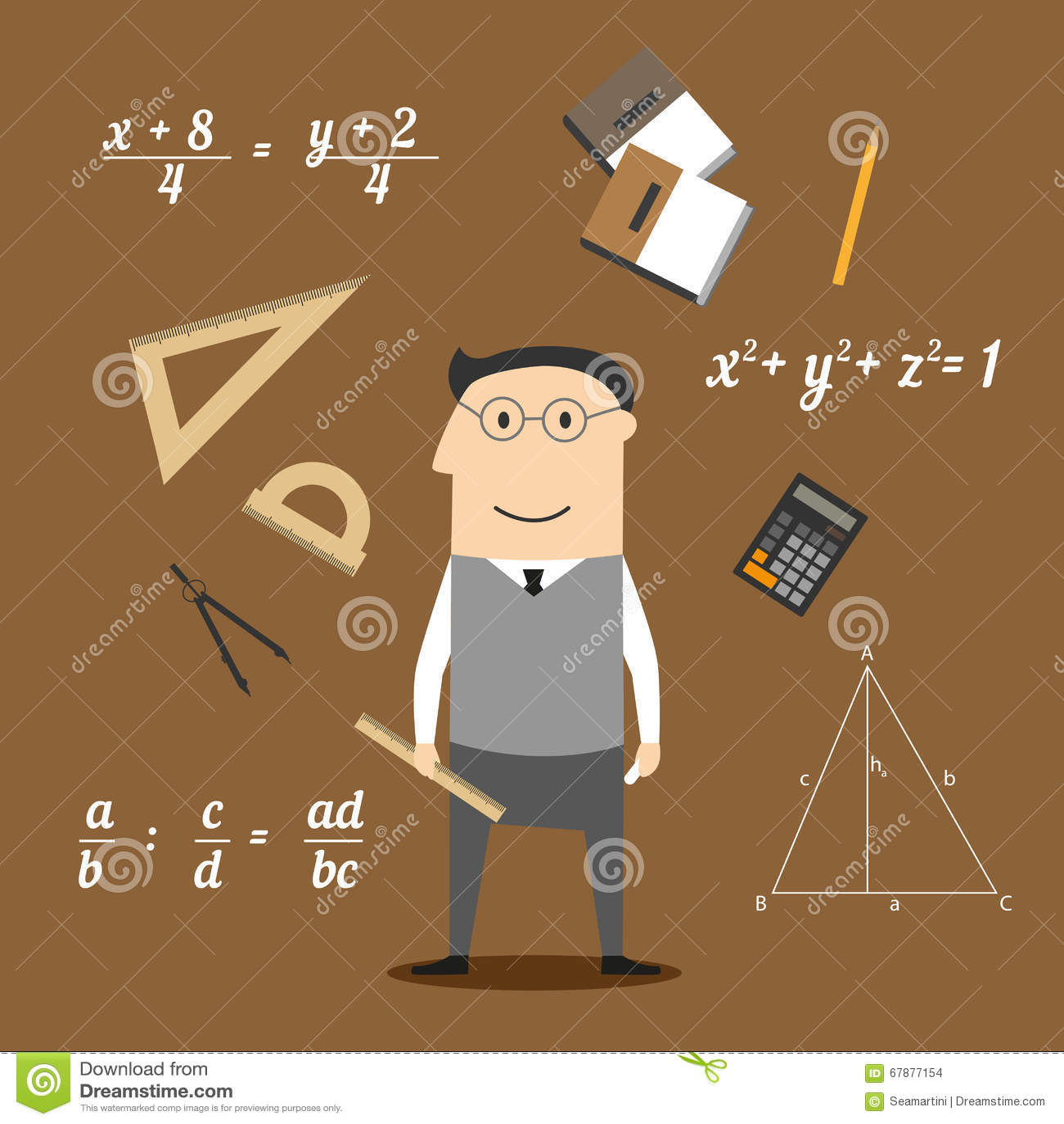 Εικονίδια μαθηματικών ή δασκάλων και εκπαίδευσης