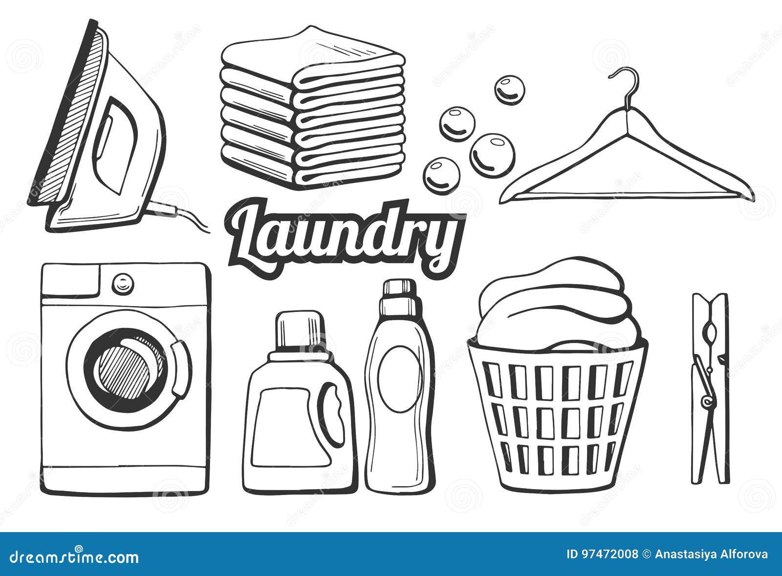 Εικονίδια πλυντηρίων καθορισμένα