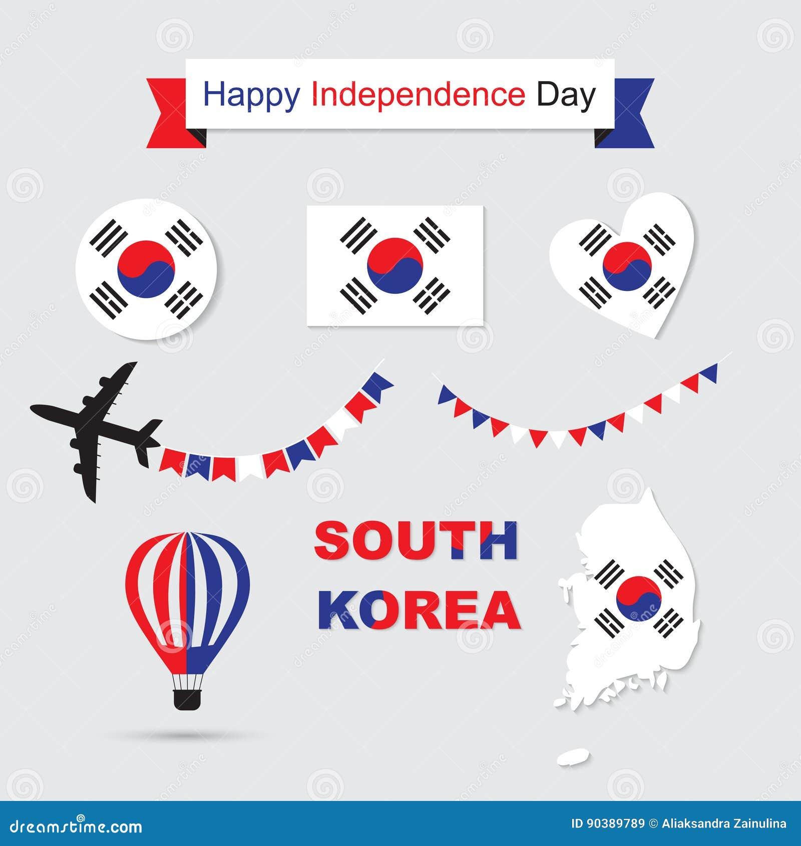 Εικονίδια σημαιών και χαρτών της Νότιας Κορέας καθορισμένα
