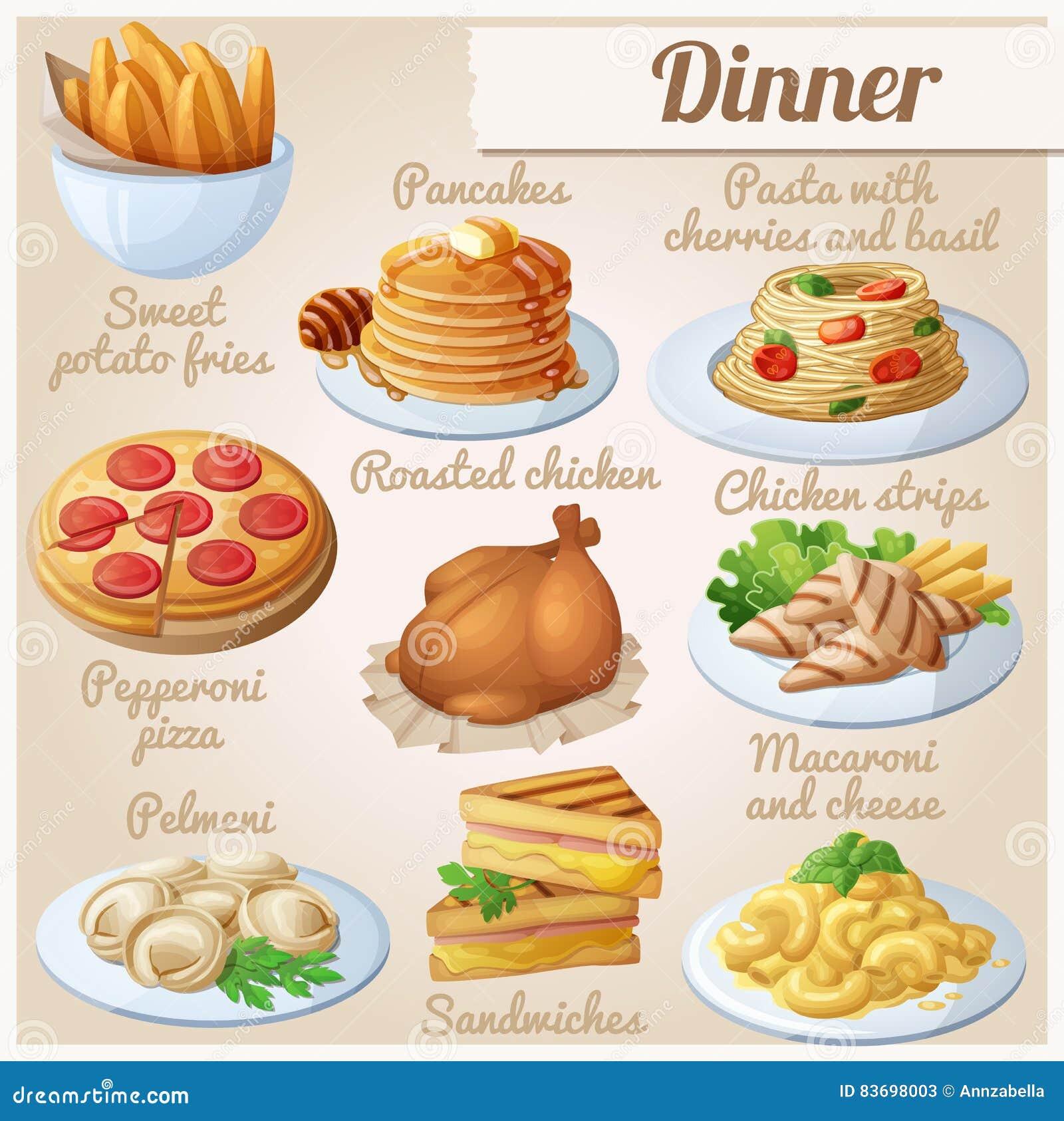 εικονίδια τροφίμων που τί&th γεύμα
